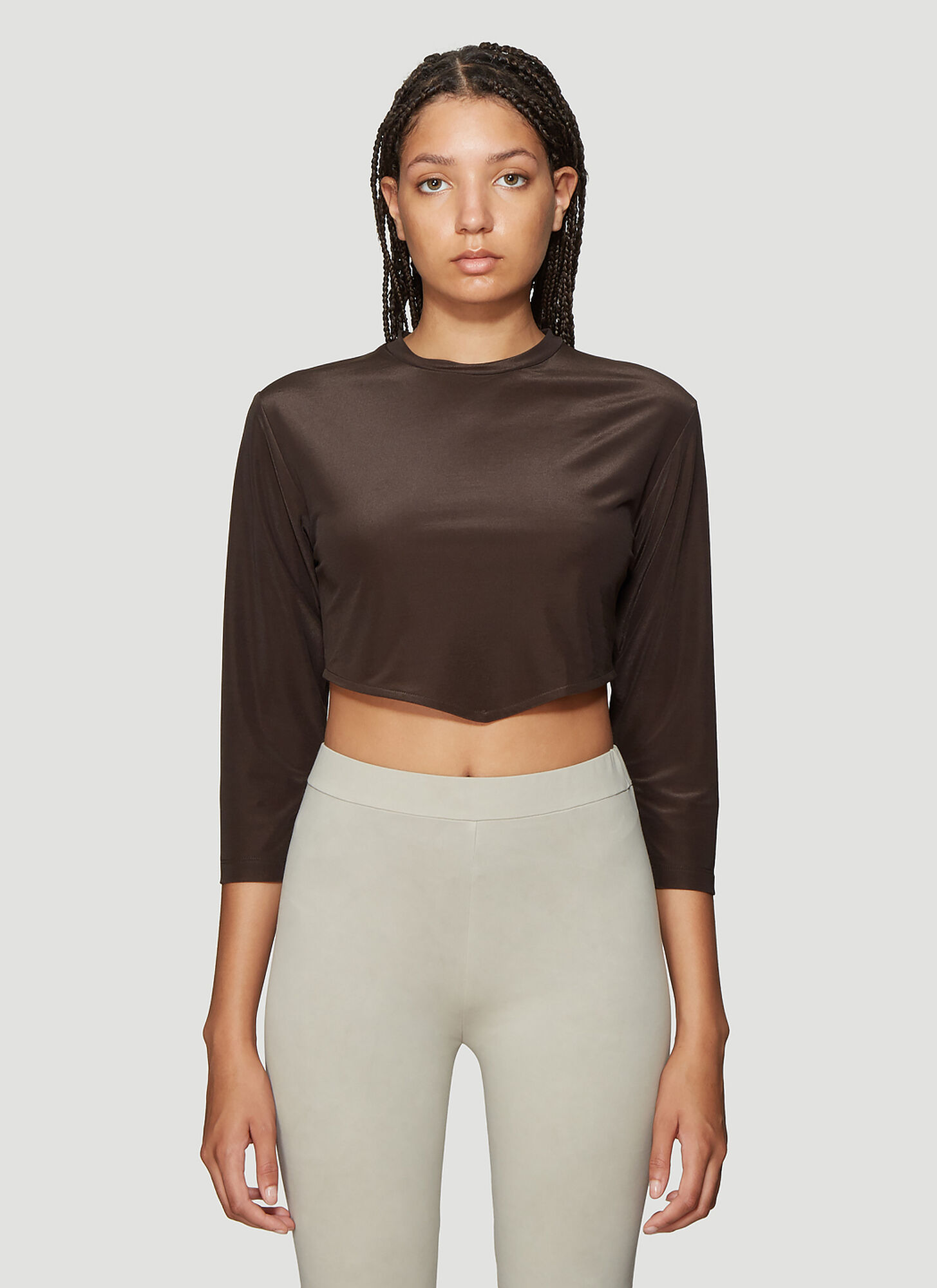 Roni Ilan Cropped Top in Brown