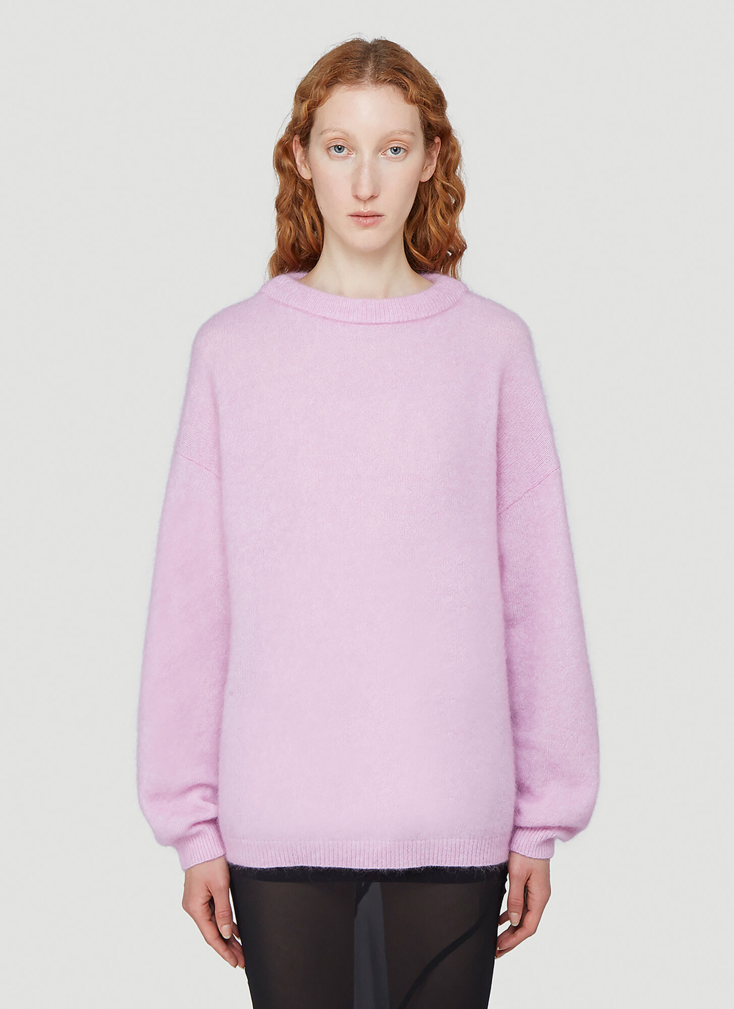 Acne Studios Tactile-Knit Sweater in Pink