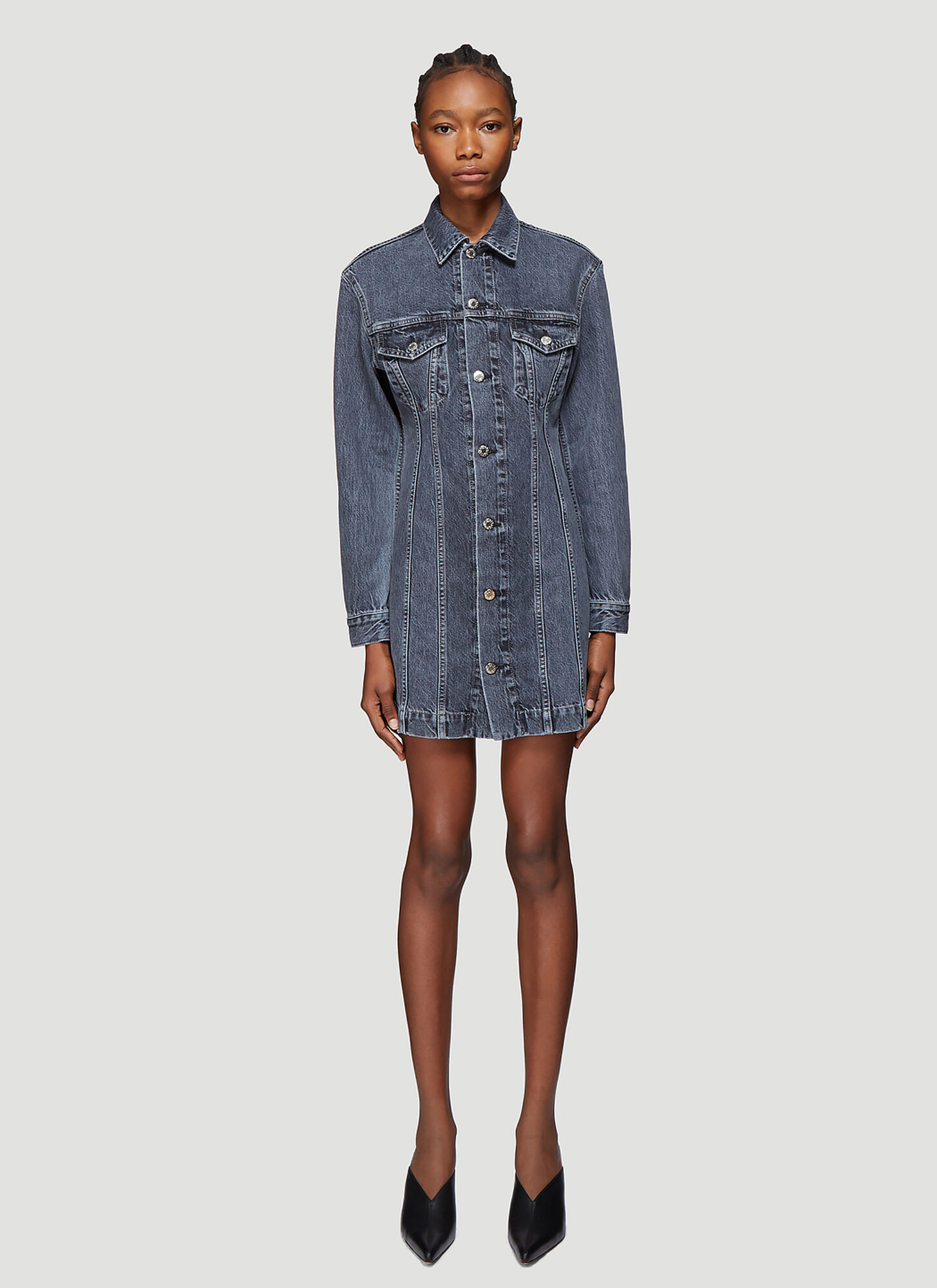 Photo of Helmut Lang Femme Denim Dress in Blue - Helmut Lang Dresses