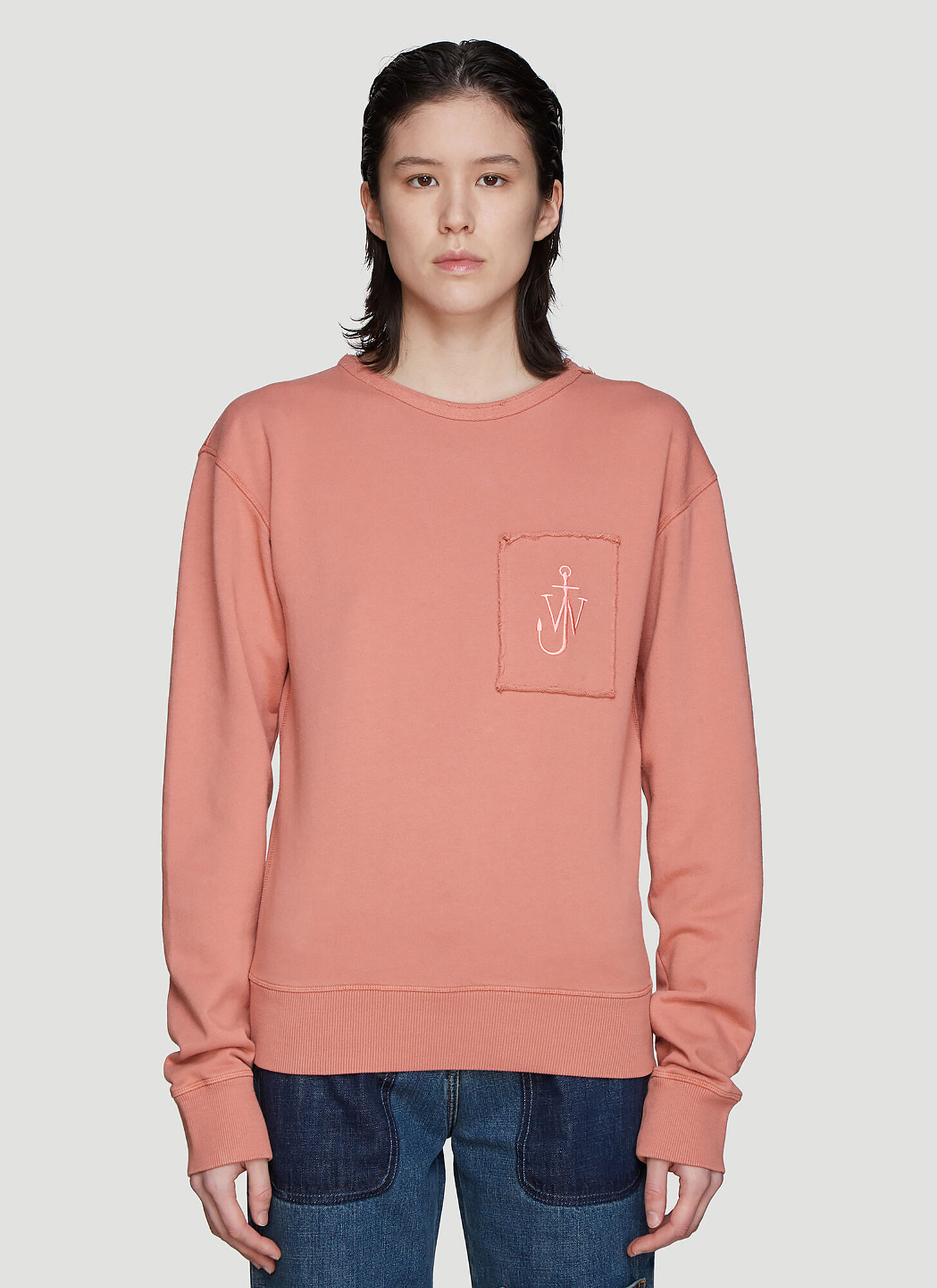 JW Anderson Anchor Patch Sweatshirt in Pink