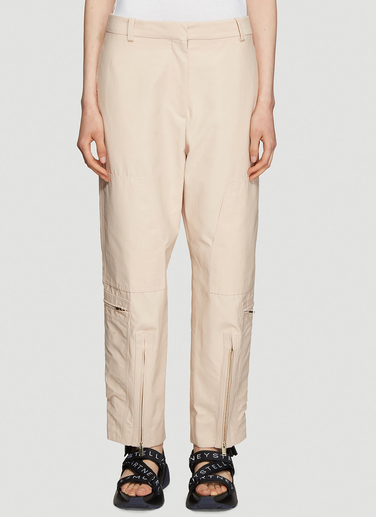 Stella McCartney High Waist Utility Trousers in Pink