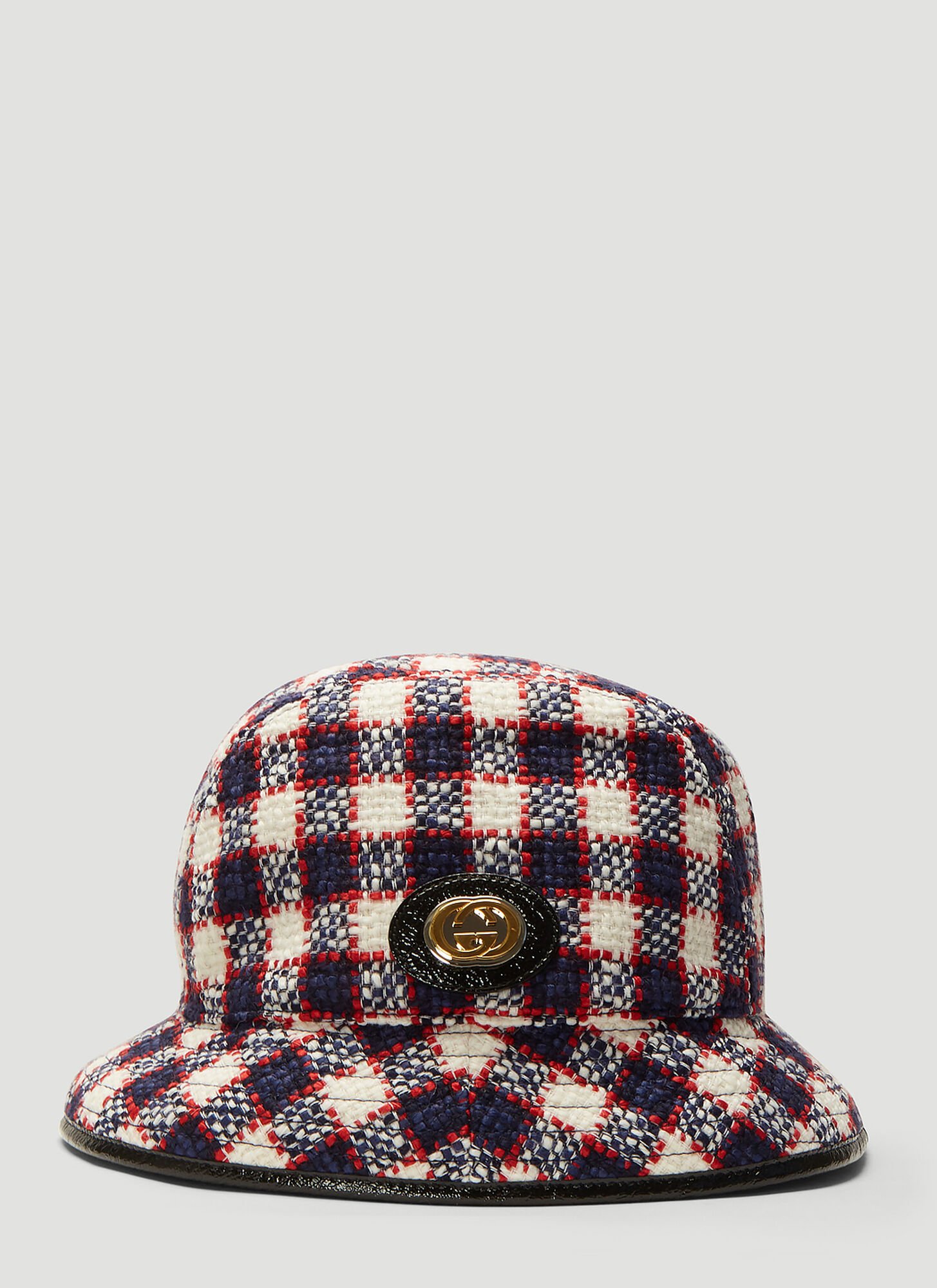 Gucci Tweed Fedora Hat in White