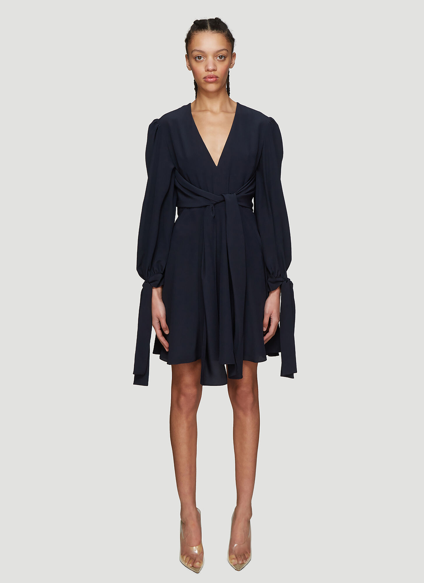 Photo of Stella McCartney Bishop Sleeve Dress in Navy - Stella McCartney Dresses