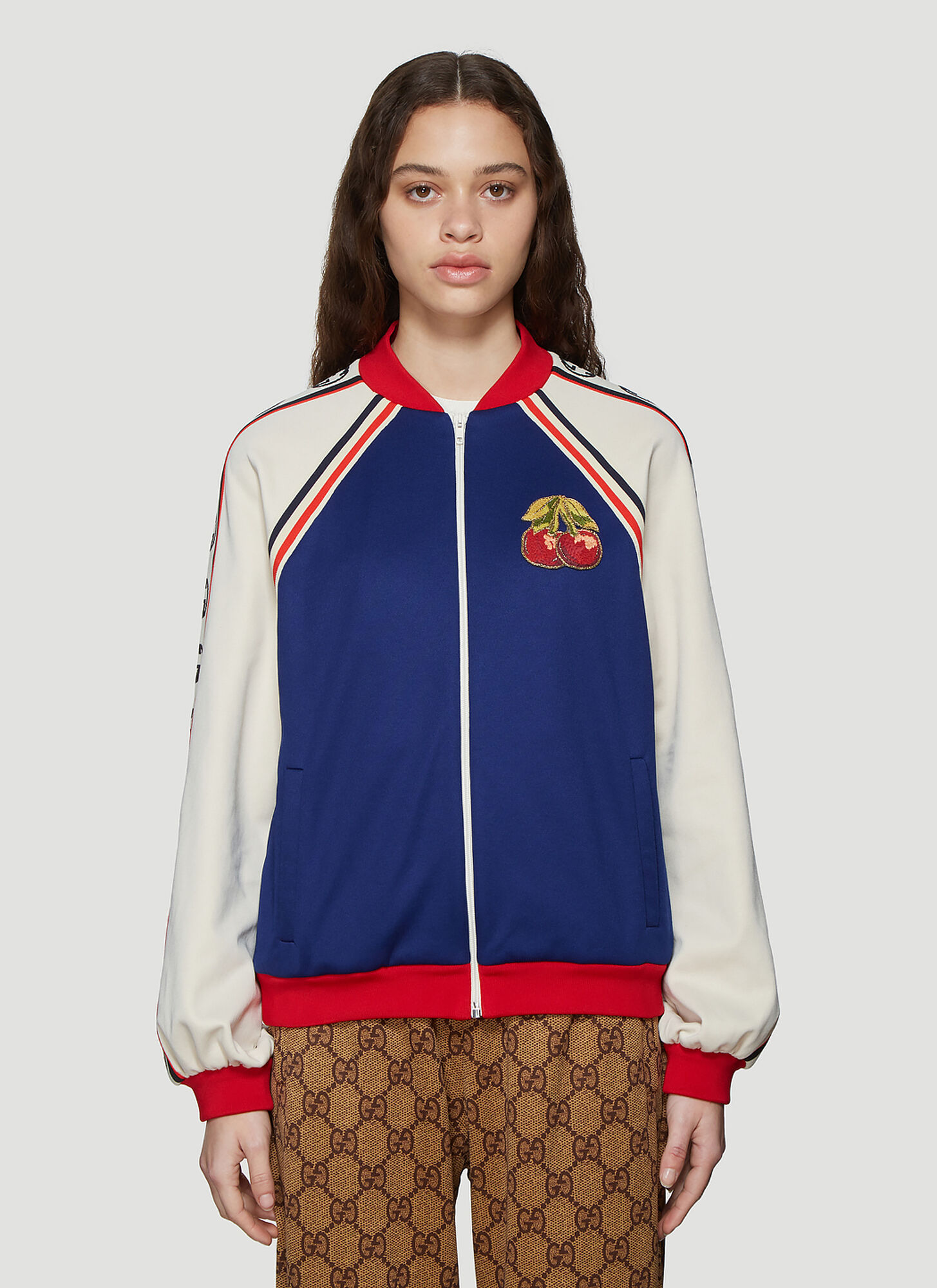 Gucci GG Logo Track Top in Blue