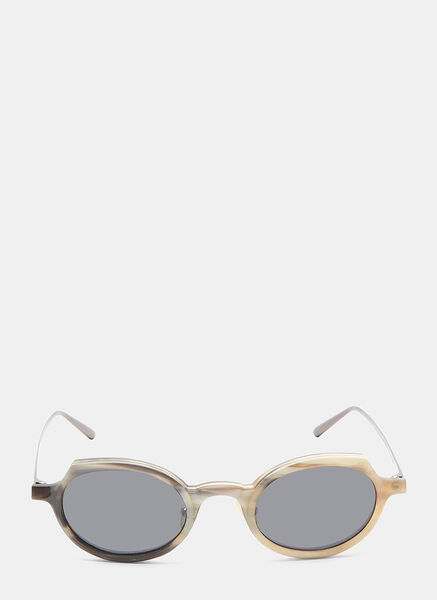 RIGARDS Rg0090 Horn Oval Sunglasses In Brown