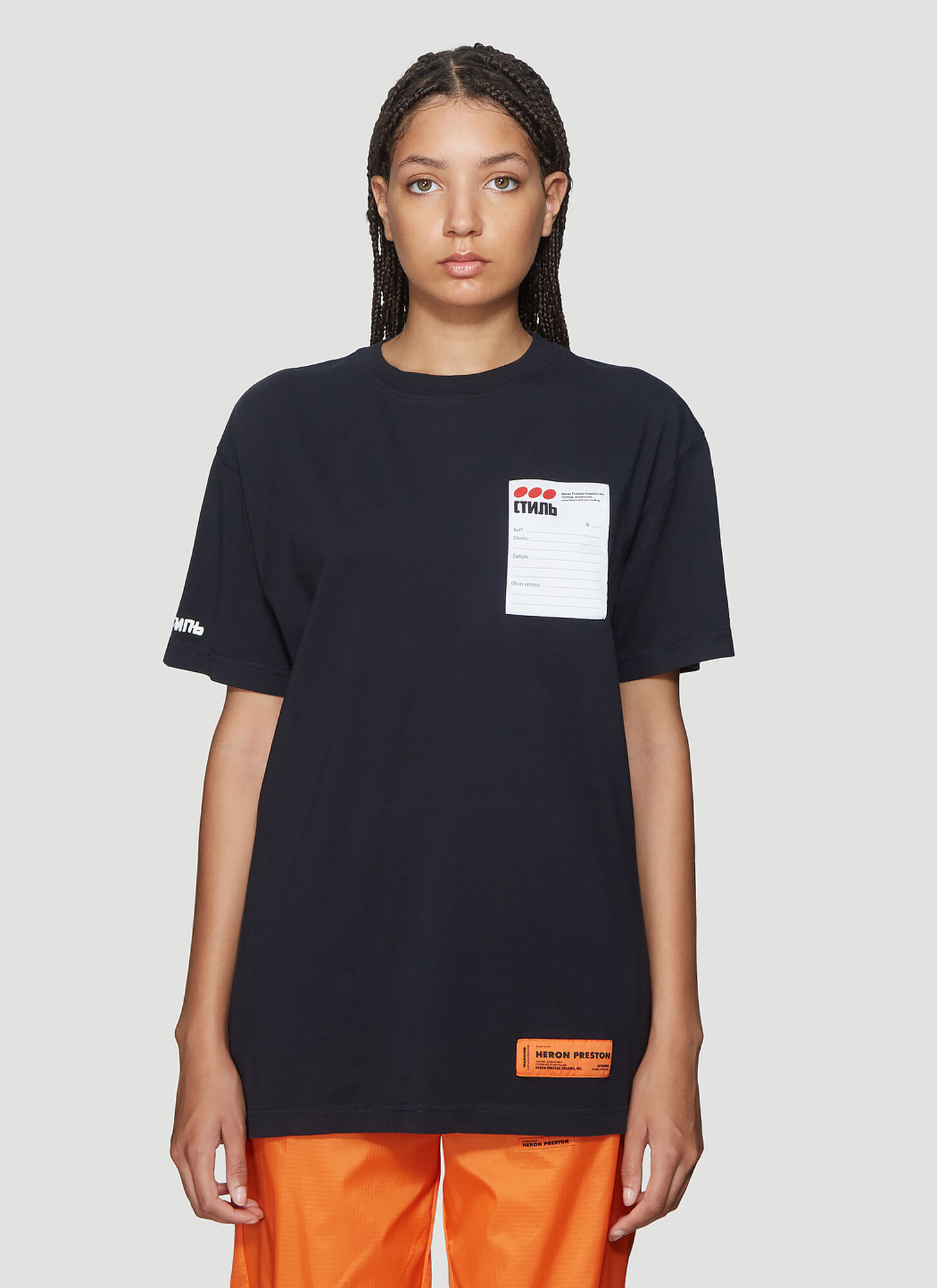 Heron Preston Logo Patch Short Sleeve T-Shirt in Black