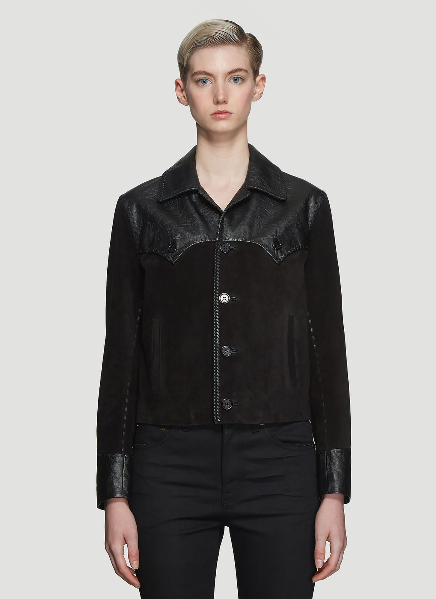 Saint Laurent Western Style Jacket in Black