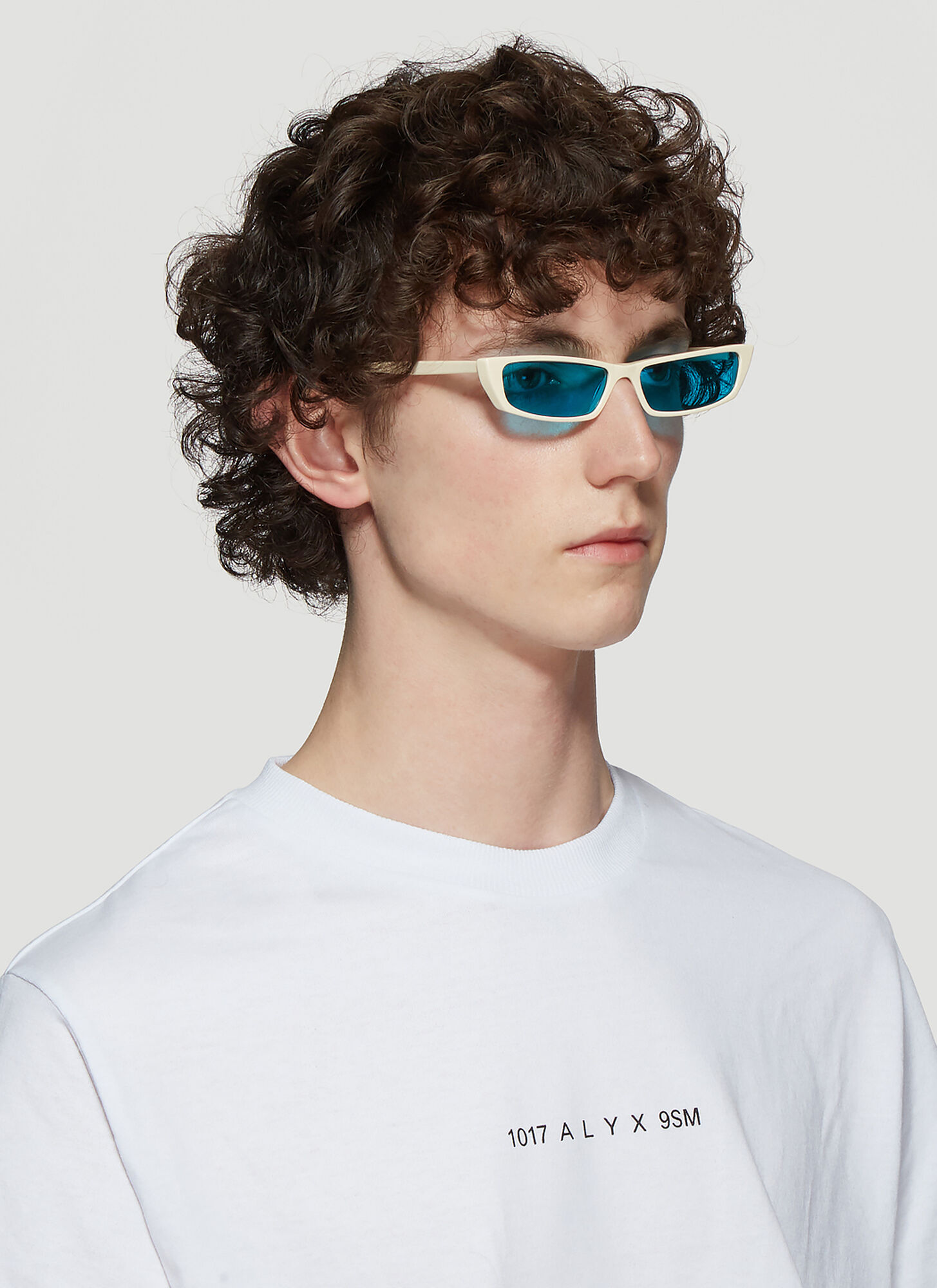 Acne Studios Bold Frame Agar Sunglasses in White size One Size