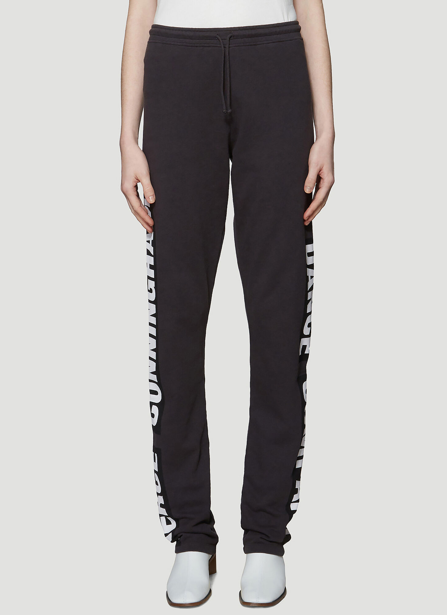 Acne Studios Printed Track Pants in Black