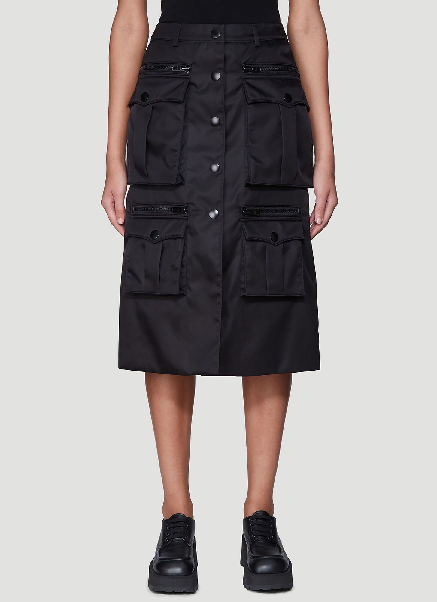 Prada Nylon Gabardine Skirt in Black
