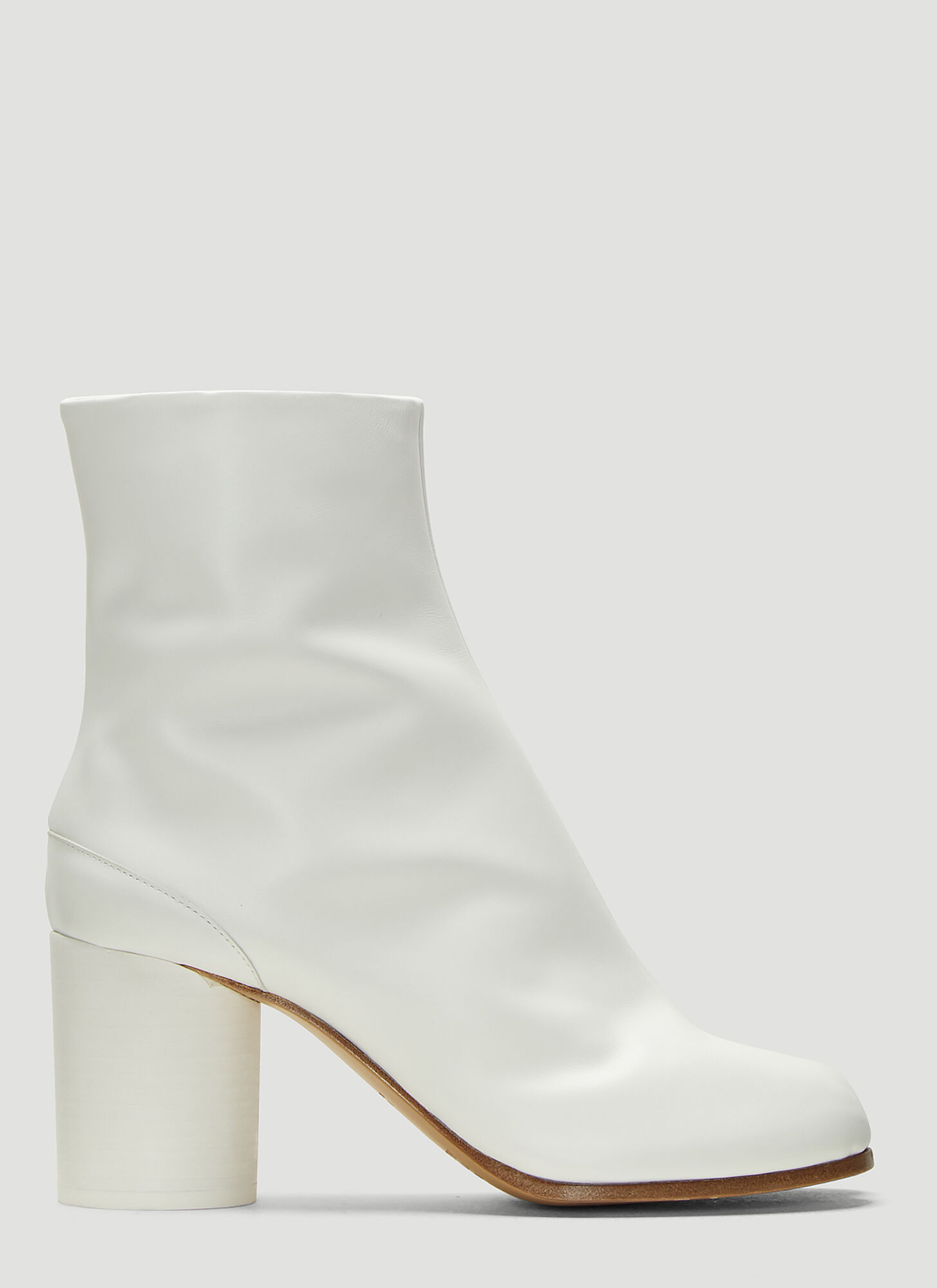 Maison Margiela Tabi Ankle Boots in White