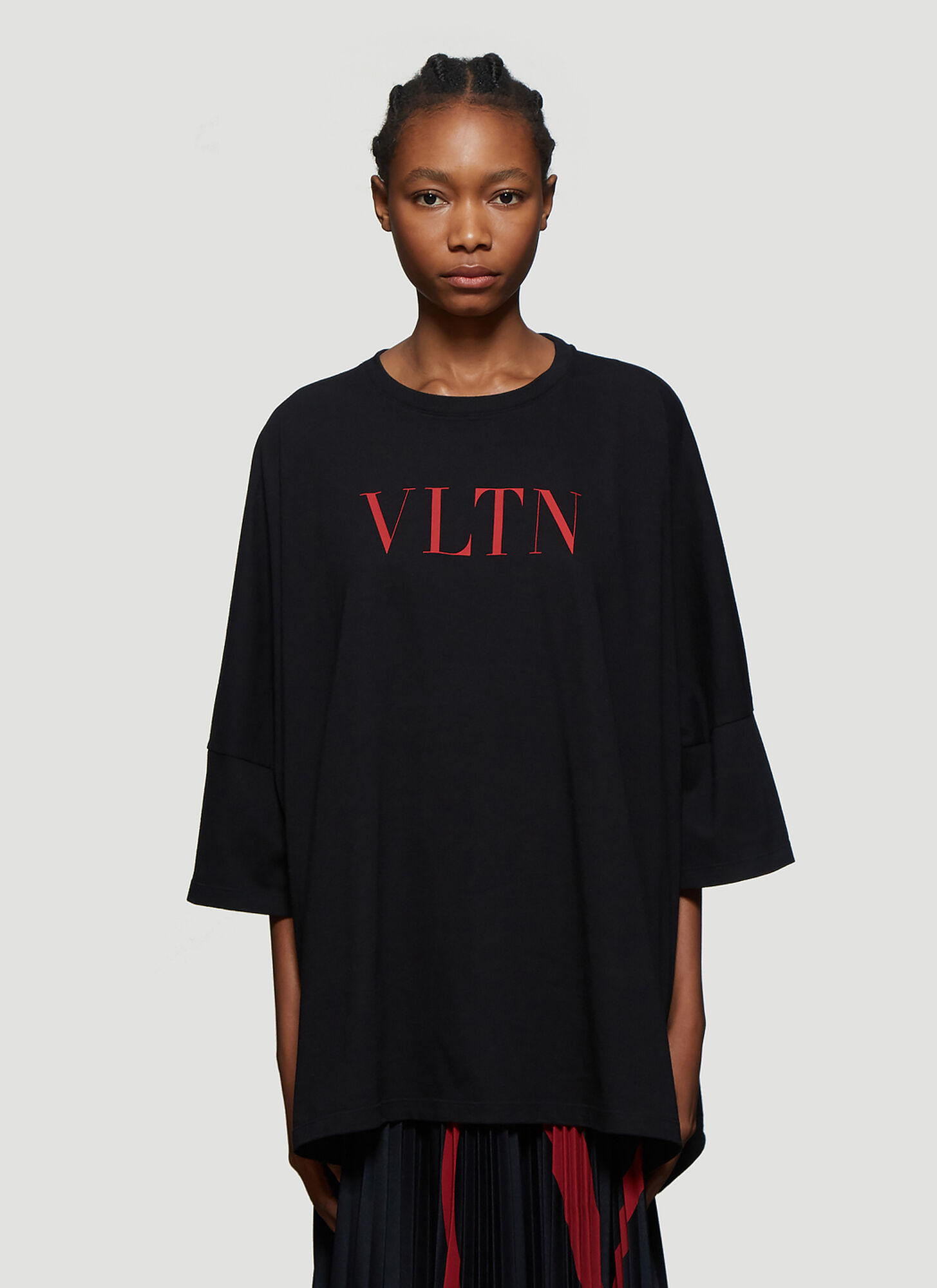 Photo of Valentino VLTN Oversized T-Shirt in Black - Valentino T-Shirts