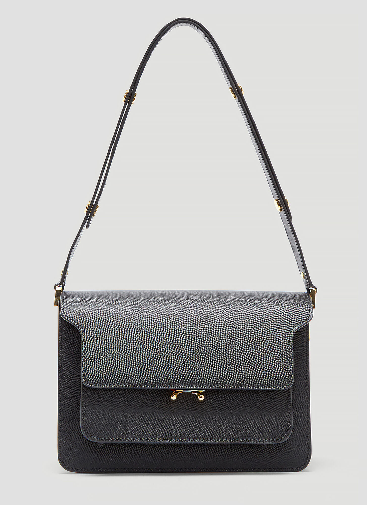 Marni Medium Trunk Bag in Black