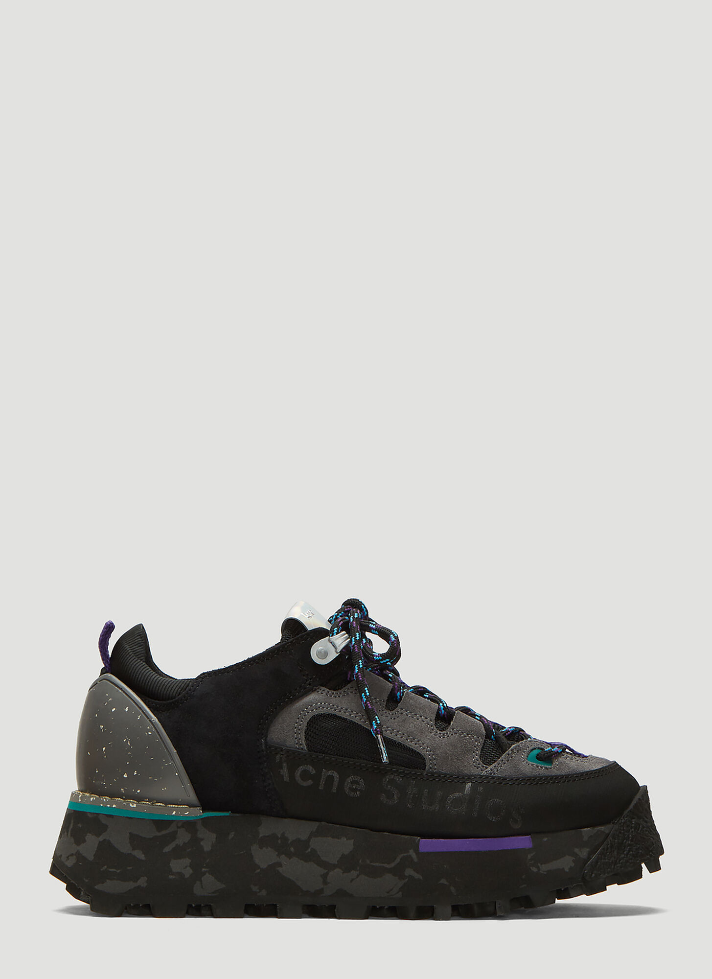 Acne Studios Technical Platform Sneakers in Black