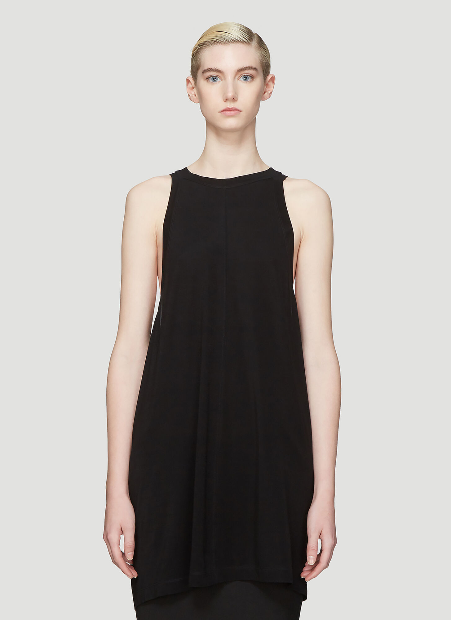 Rick Owens Open Tank Top in Black
