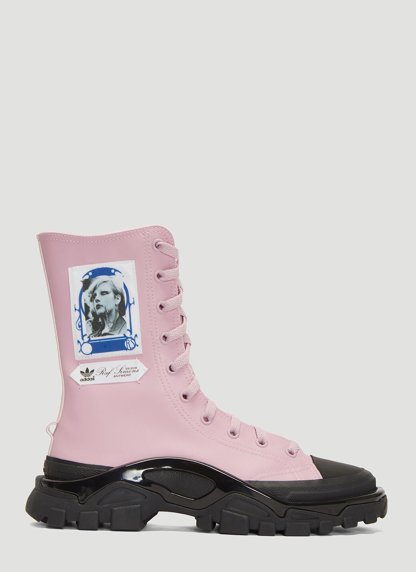 adidas by Raf Simons Detroit Boot Sneakers in Pink