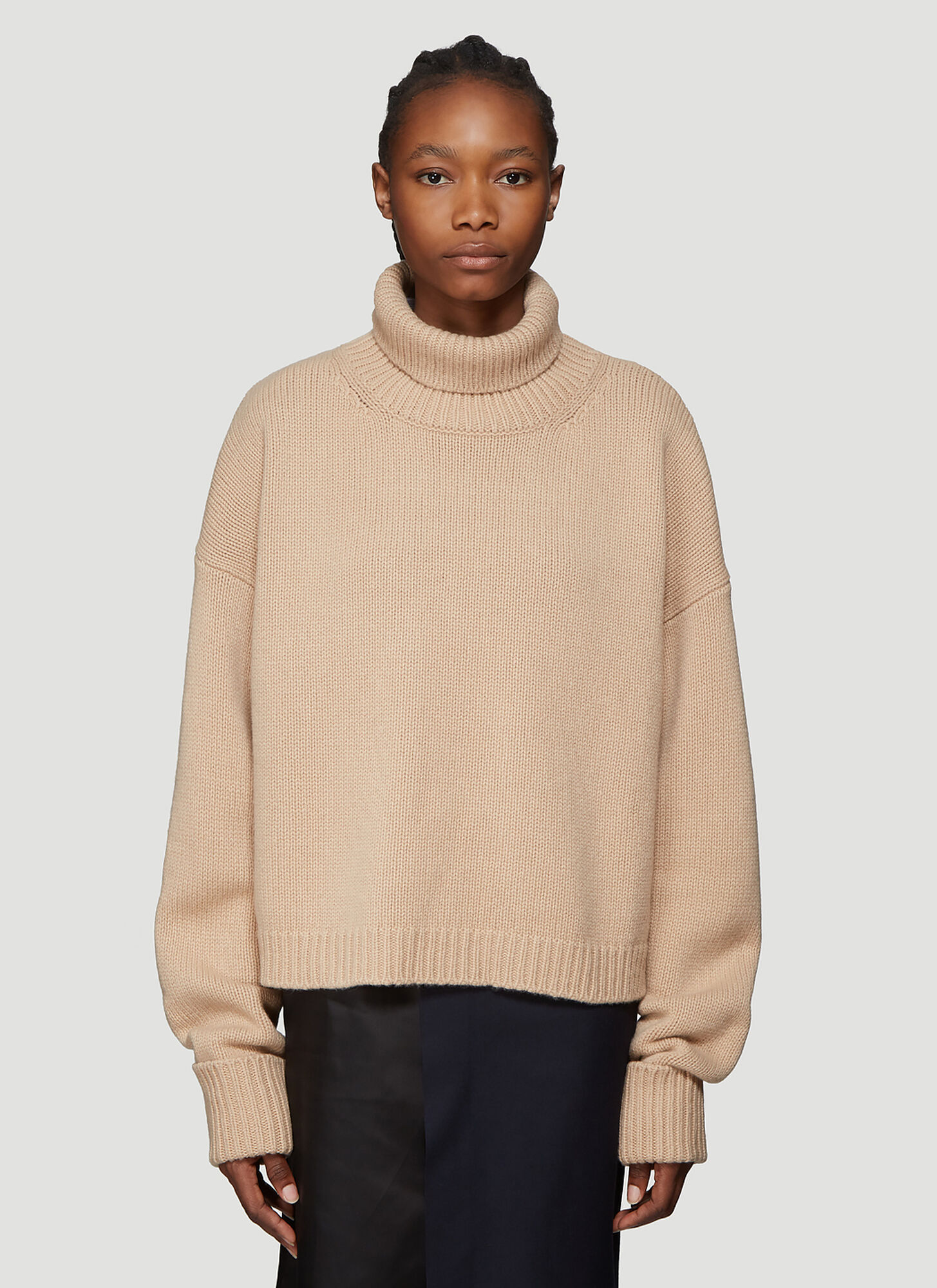 Maison Margiela Chunky Knit Sweater in Brown