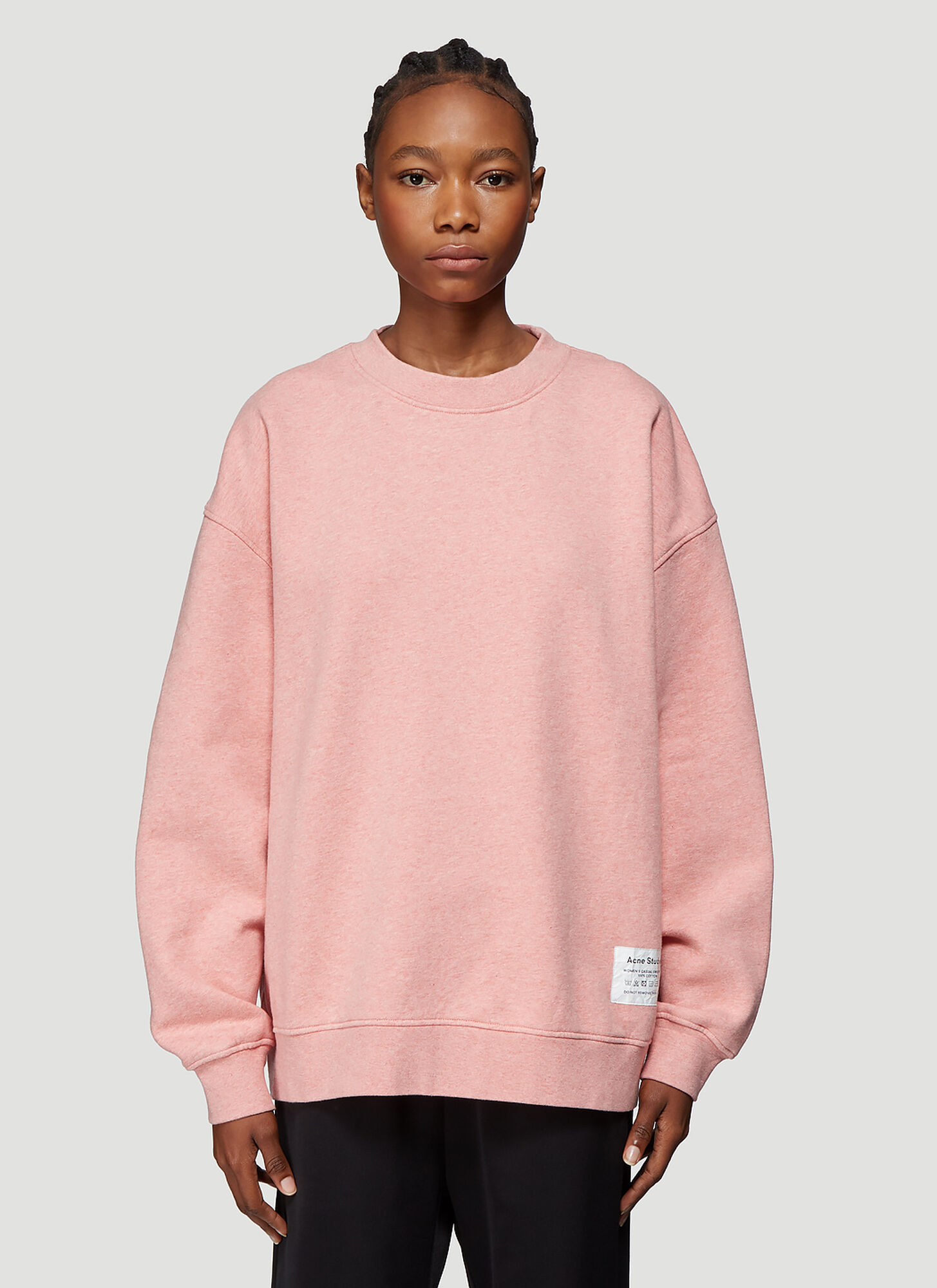 Acne Studios Wash Label Sweatshirt in Pink