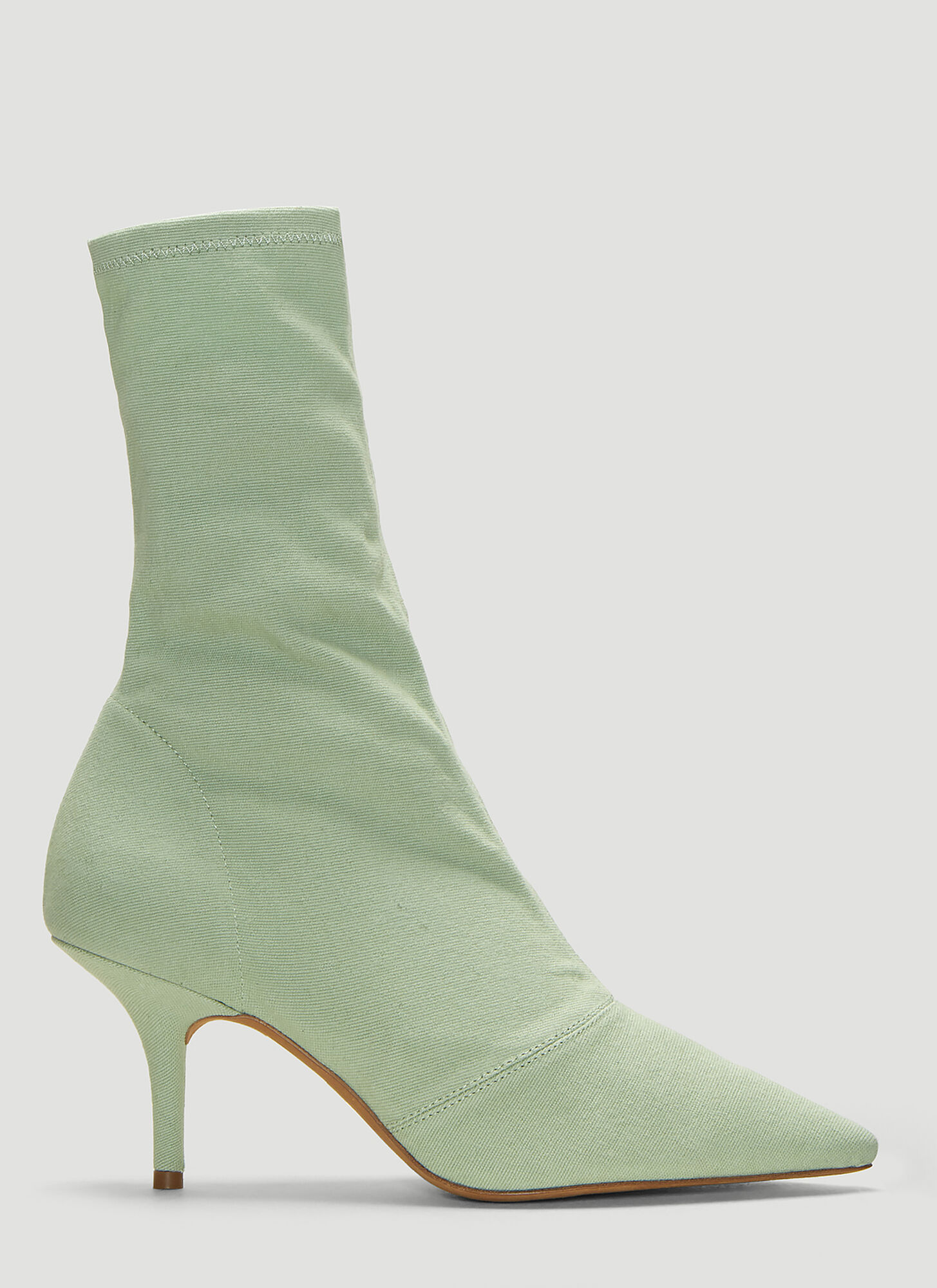Yeezy Stretch Canvas Ankle Boots in Green