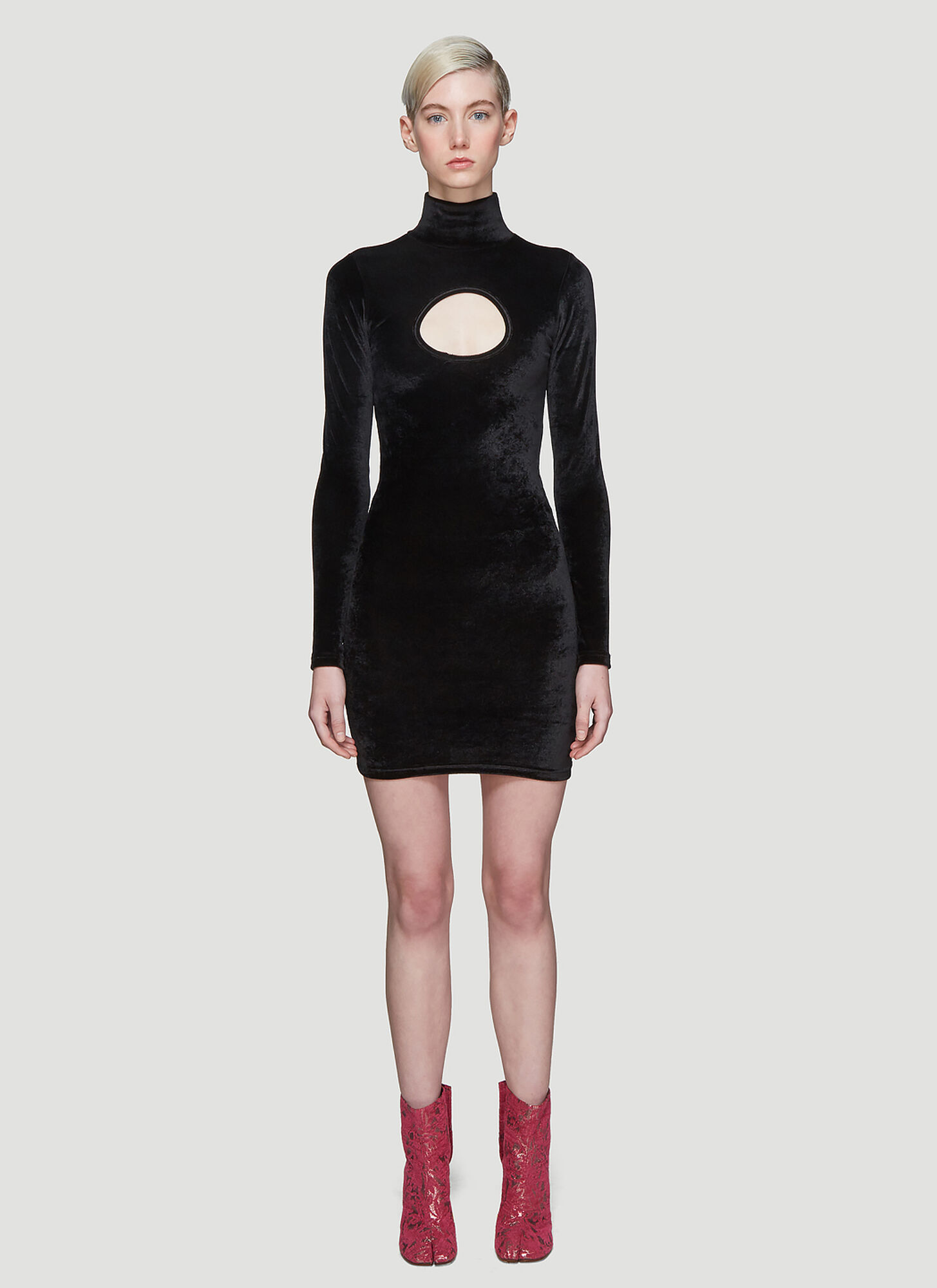 Vetements Cut-Out Body Dress in Black
