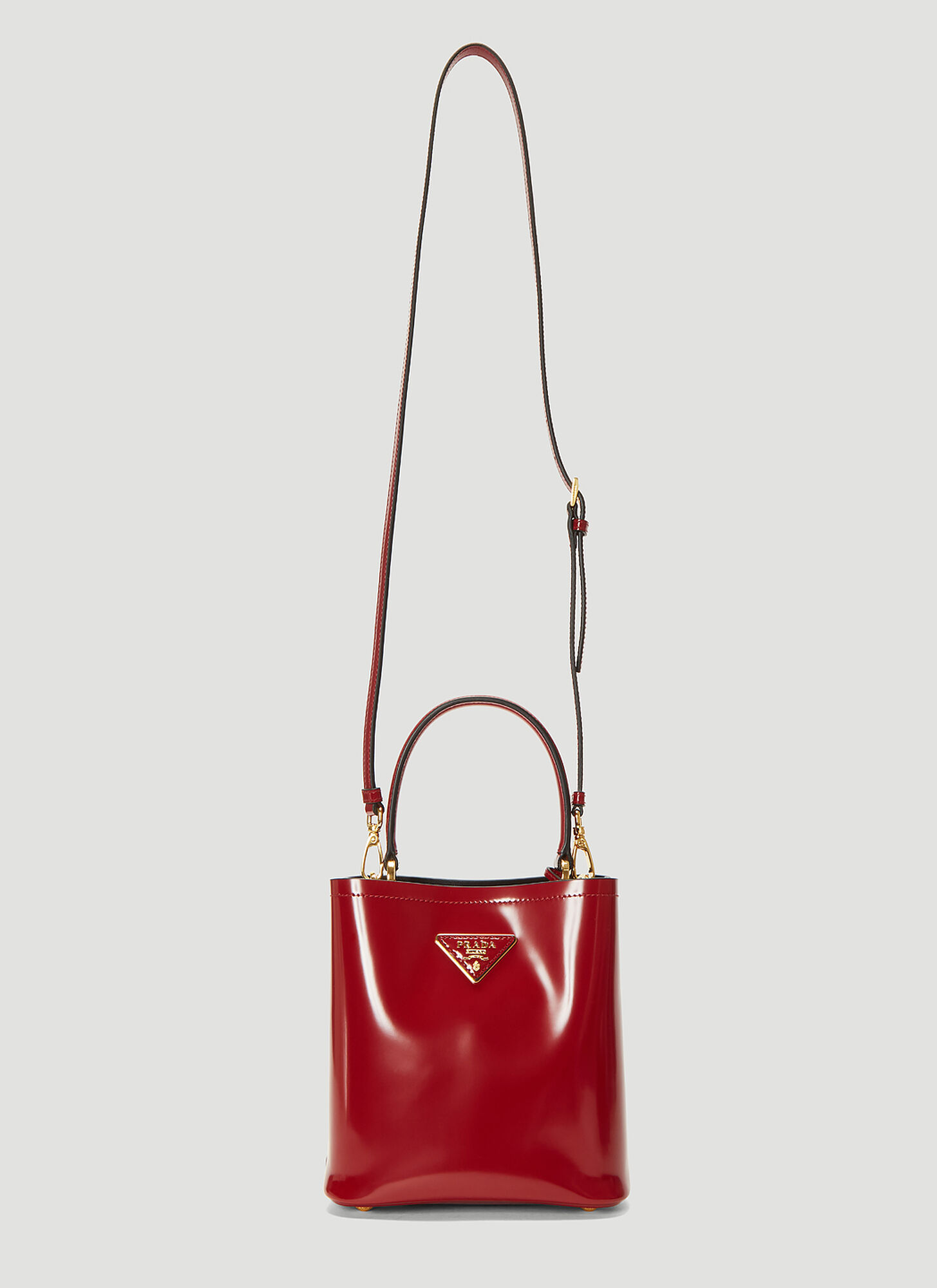 Prada Small Panier Bag in Red