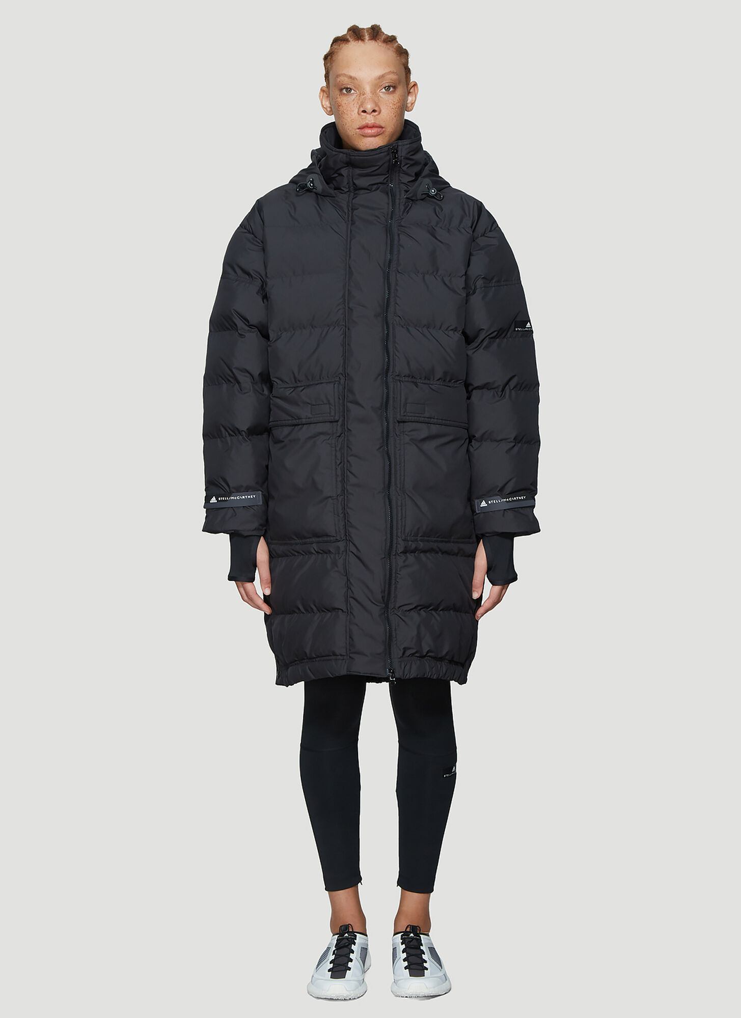 adidas by Stella McCartney Long Padded Jacket in Black