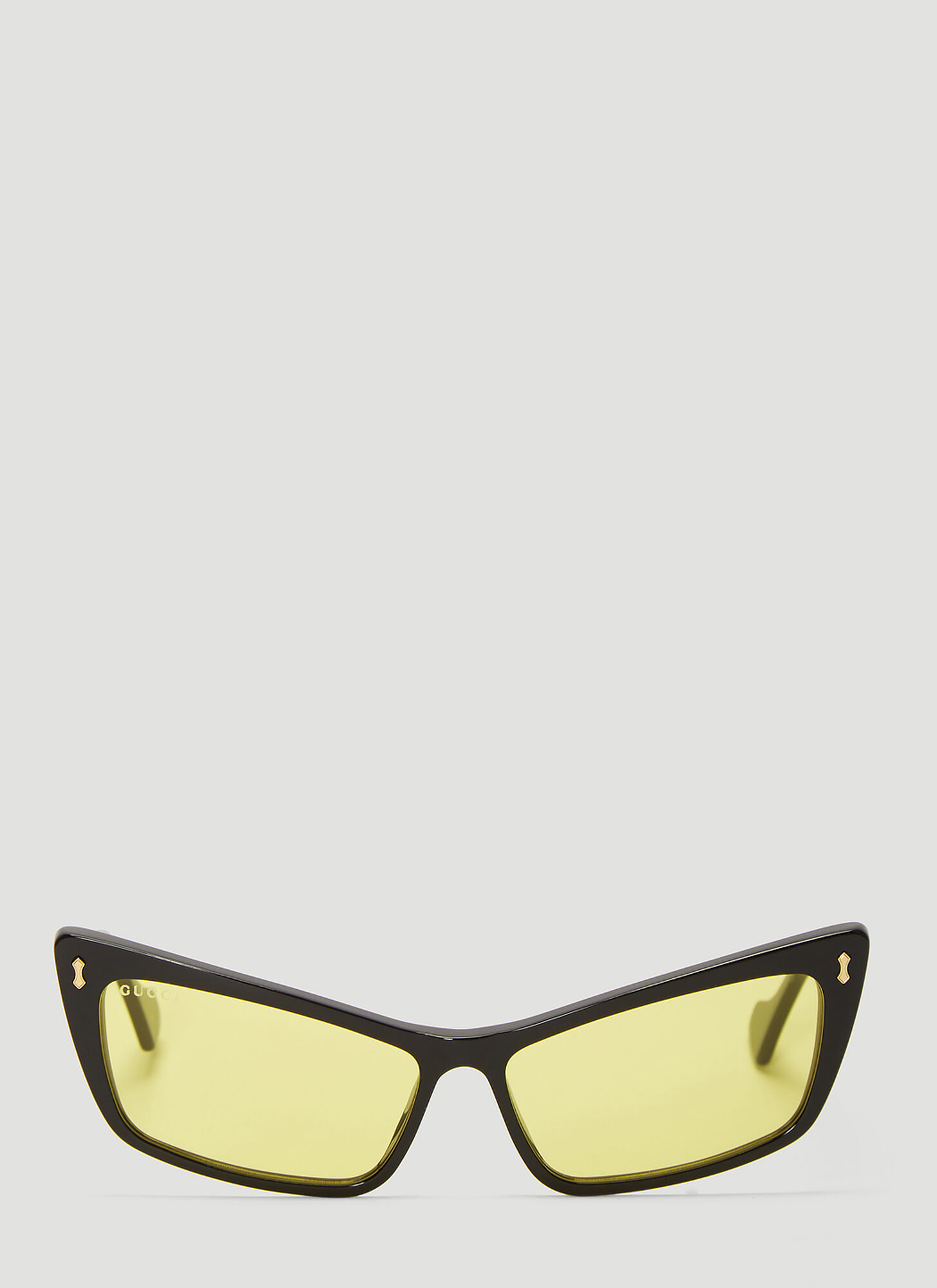Gucci Rectangular Acetate Sunglasses in Black