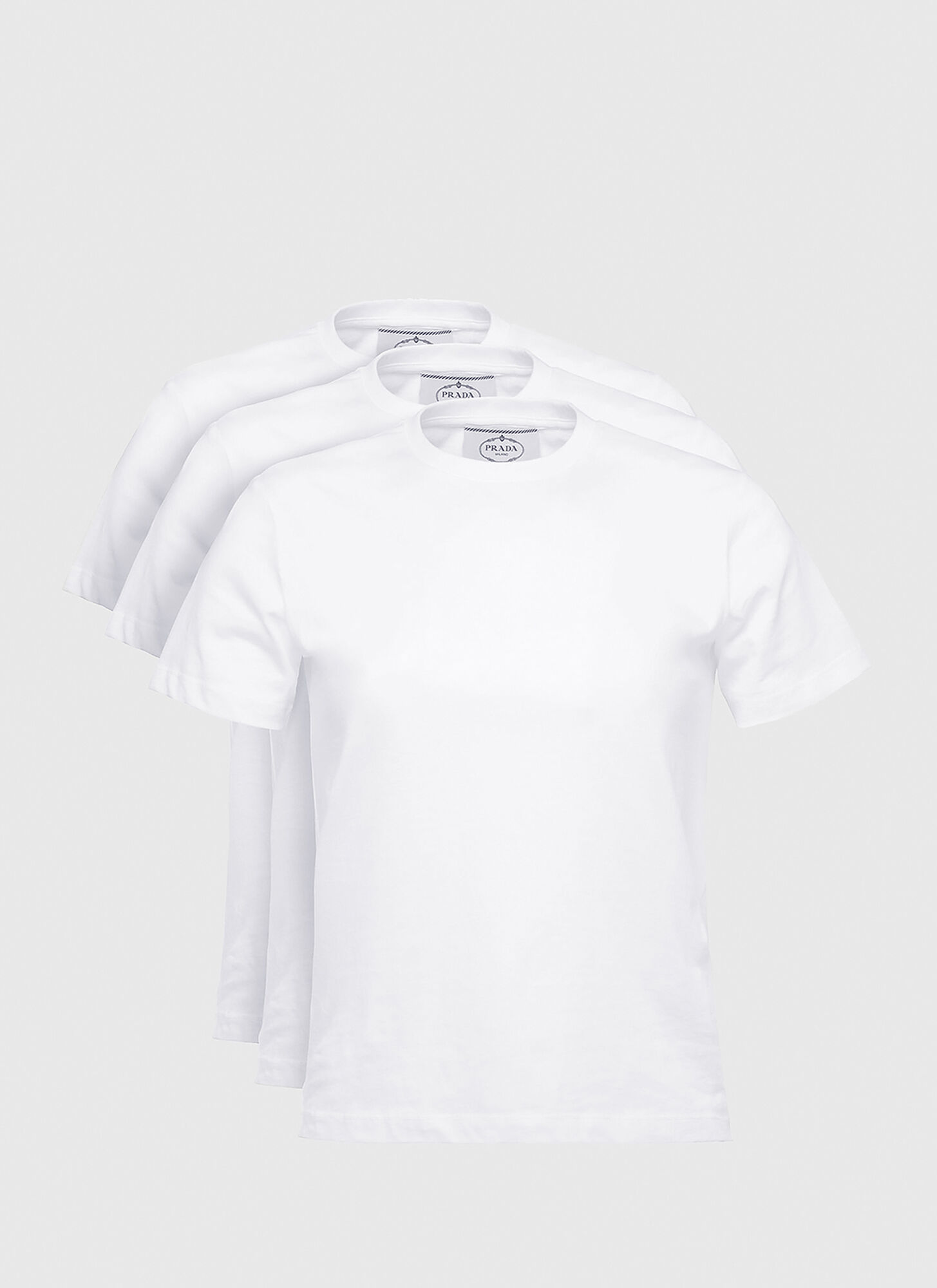 Prada Set of Three Jersey T-shirts in White