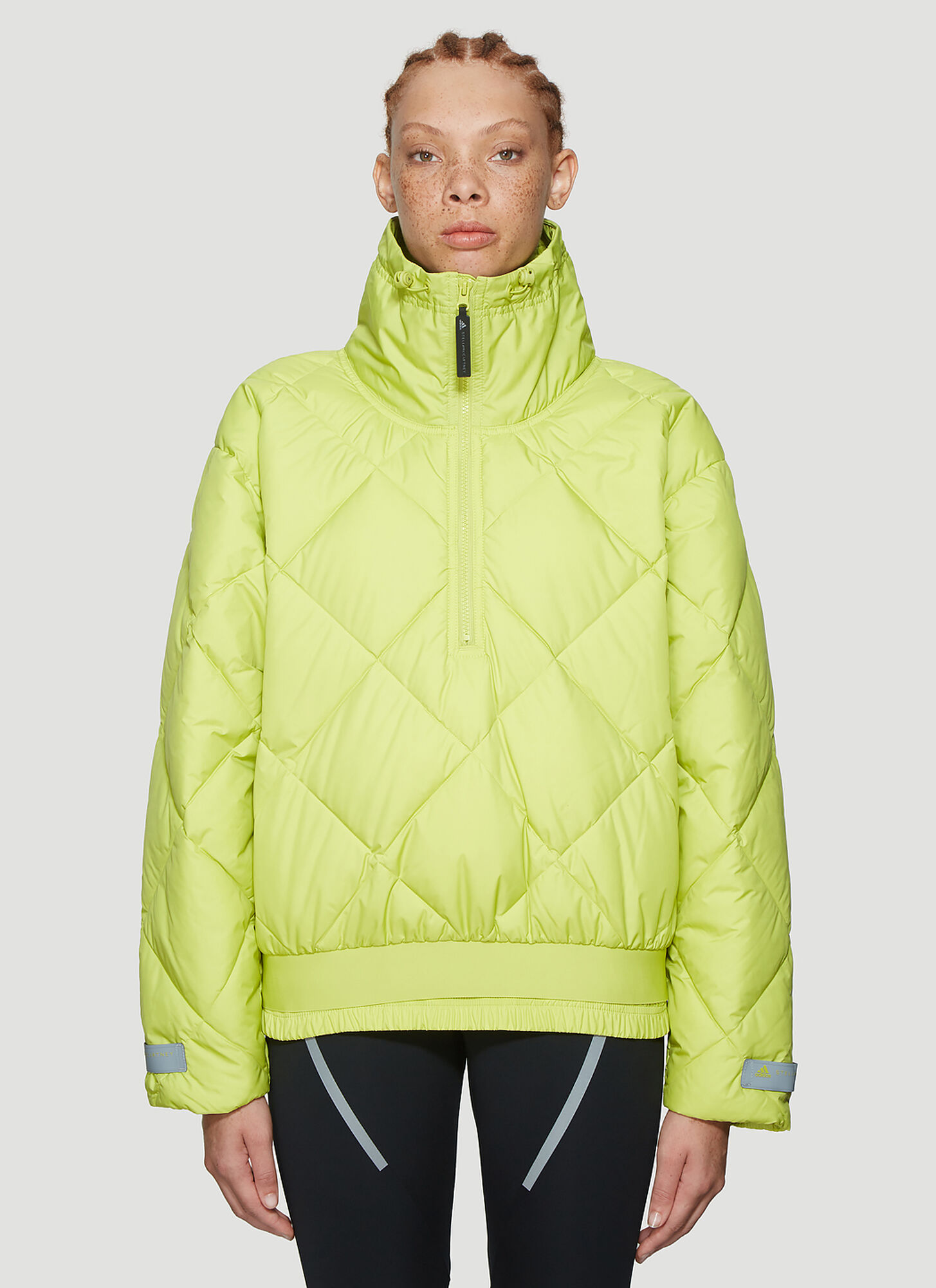 adidas by Stella McCartney Padded Pullover Jacket in Green