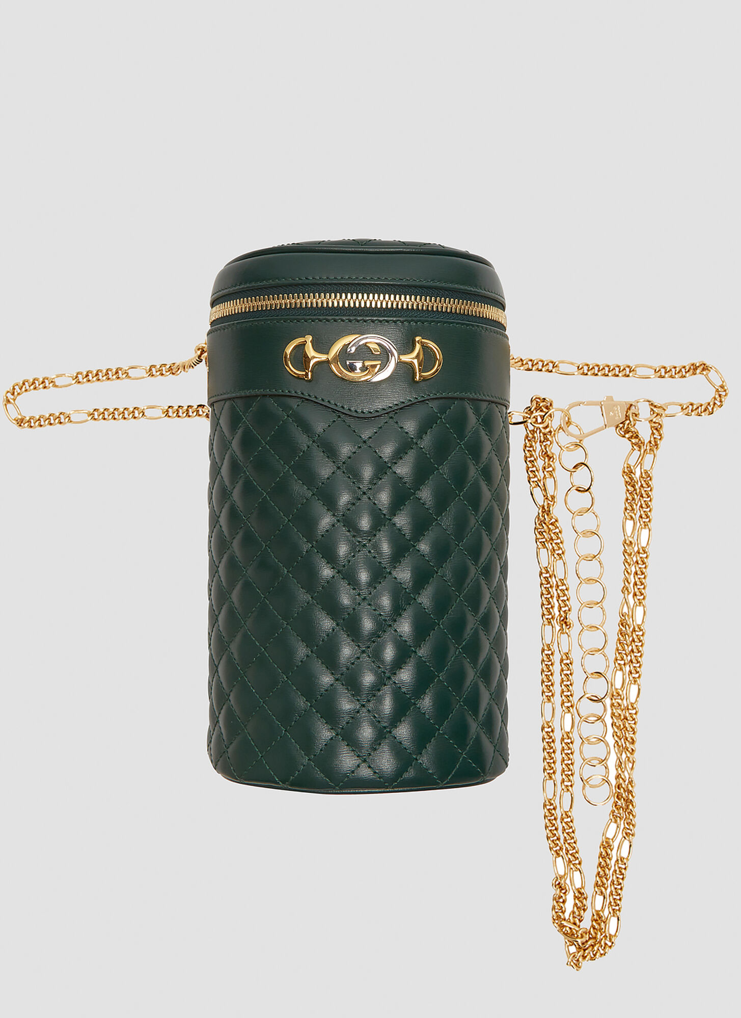 Gucci Quilted Leather Chain Bag in Green