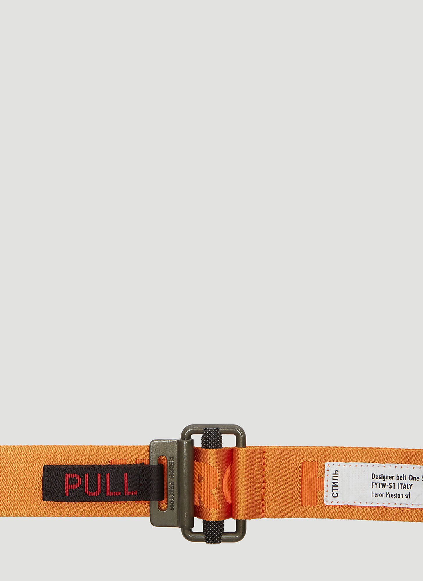 Heron Preston Jacquard Tape Belt in Orange