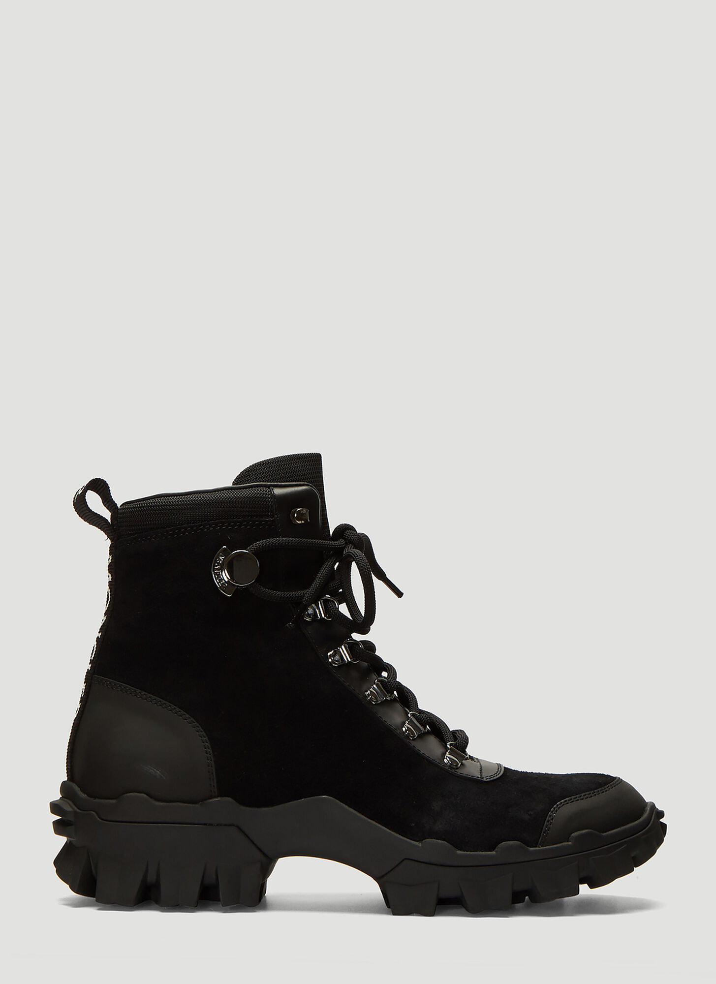 Moncler Helis Suede Boots in Black