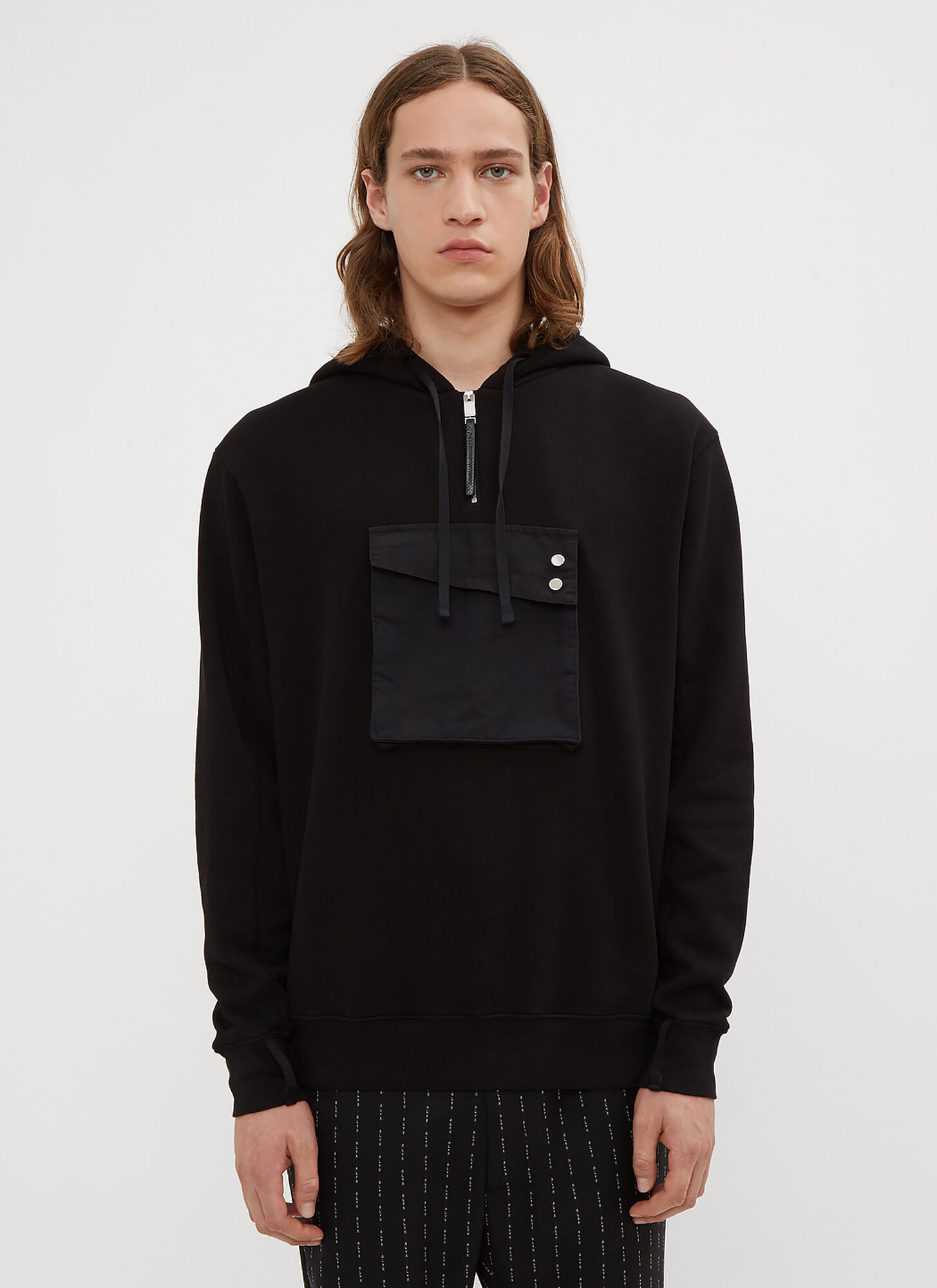 1017 ALYX 9SM Hooded Cargo Pocket Sweater in Black size M