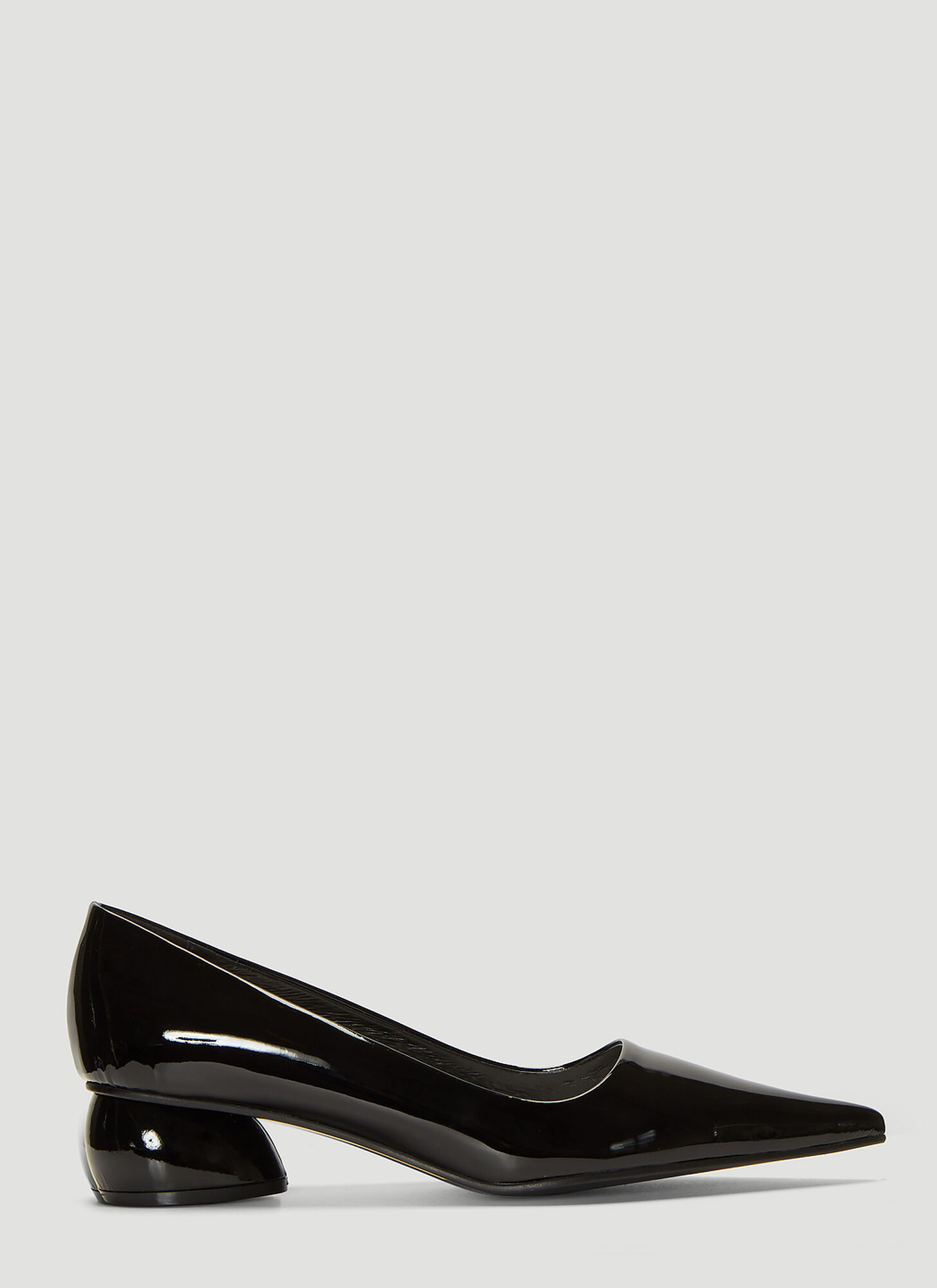 Flat Apartment Patent Pointed Pumps in Black