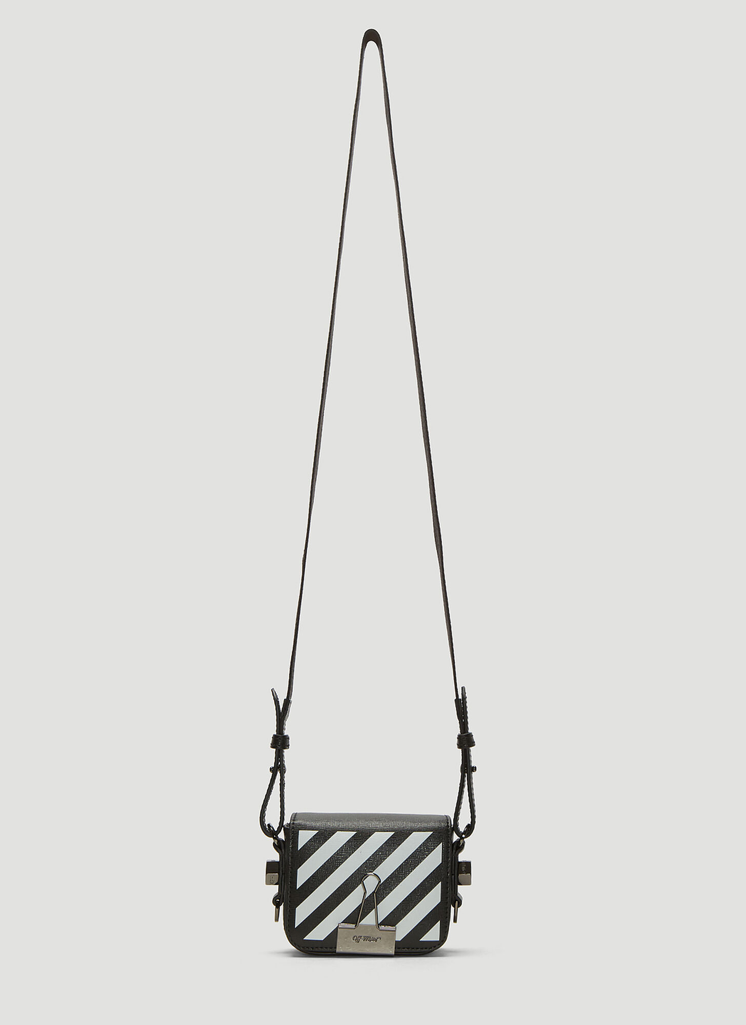 Off-White Diagonal Baby Binder Shoulder Bag in Black