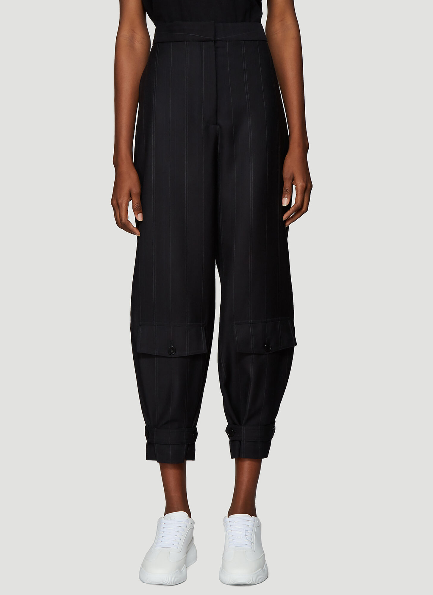 Stella McCartney Tapered Tailored Pants in Black