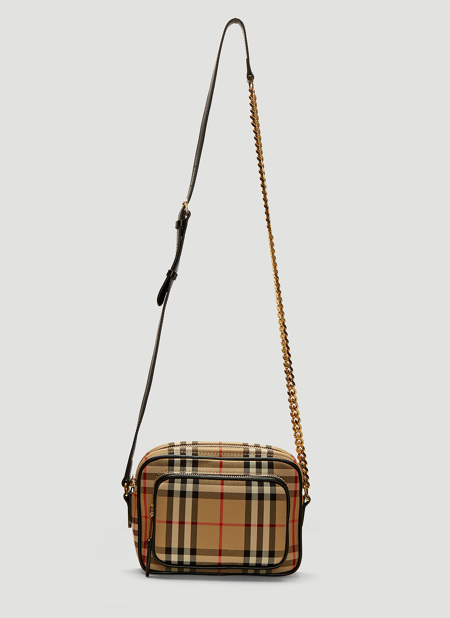 Burberry Vintage Check Camera Bag in Beige