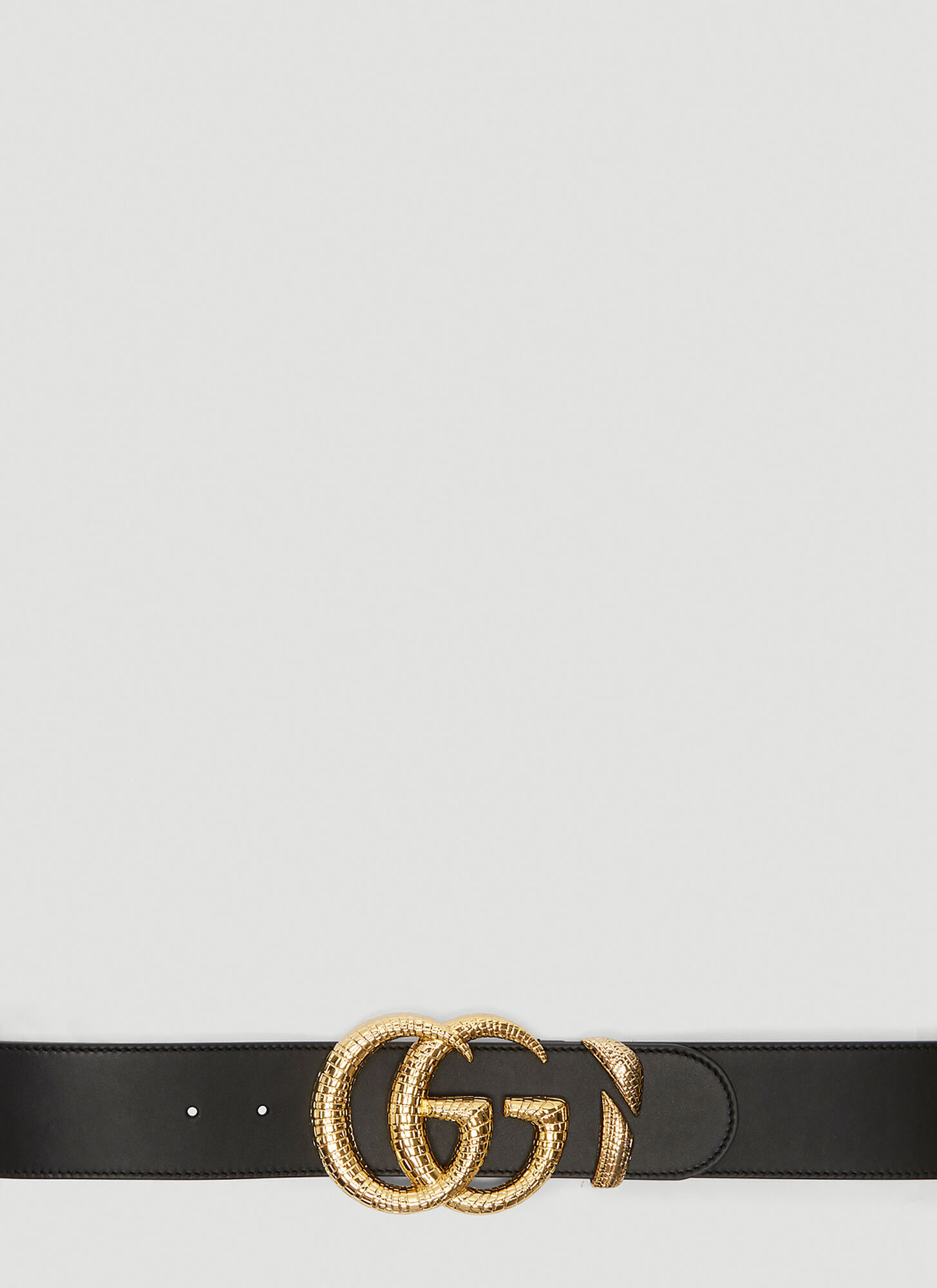 Gucci Double G Logo Belt in Black