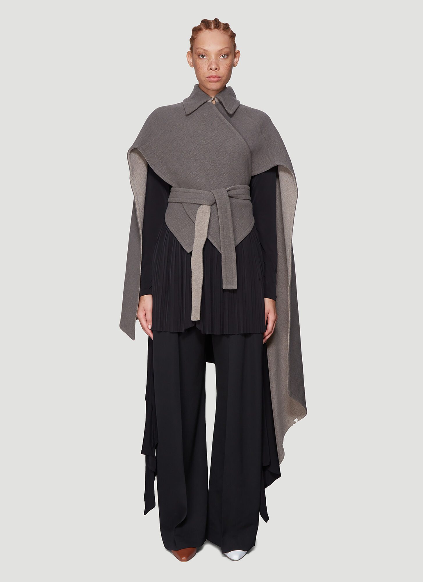 JW Anderson Double Face Cape in Grey