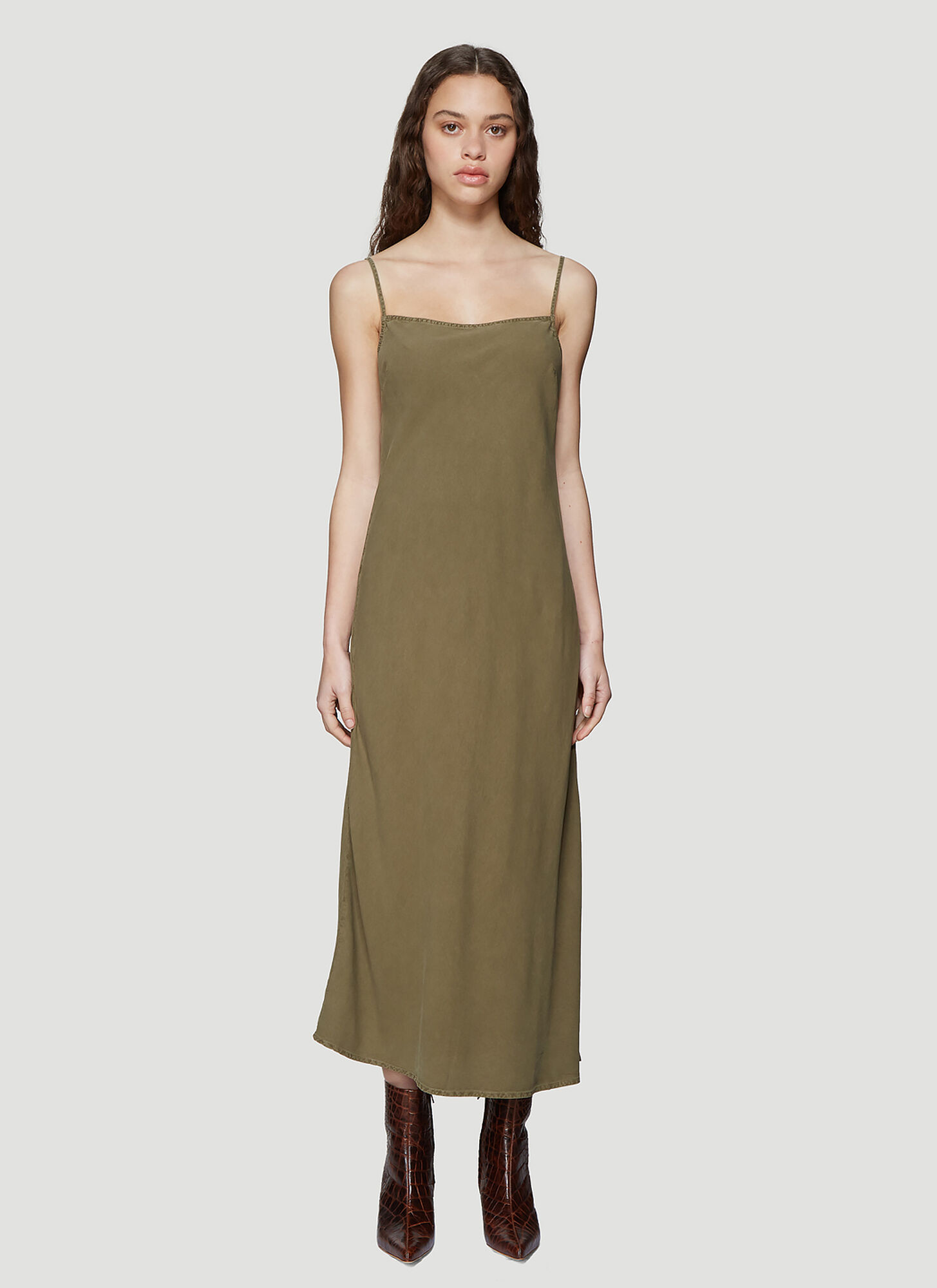Our Legacy Bias Cut Slip Dress in Green