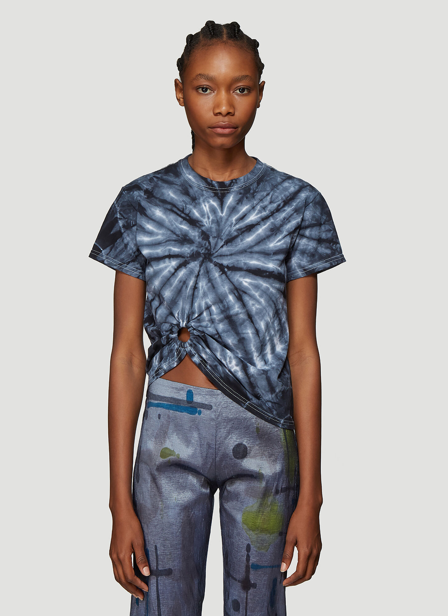 Collina Strada Tie Dye Ring T-Shirt in Blue