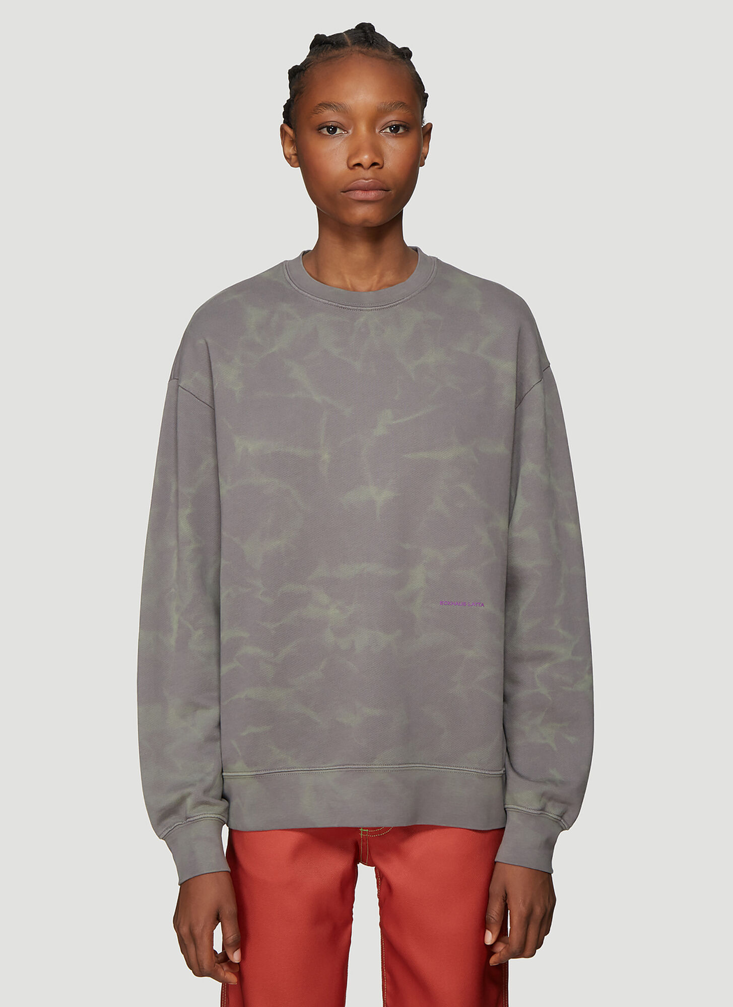 Eckhaus Latta Crew Neck Sweatshirt in Grey