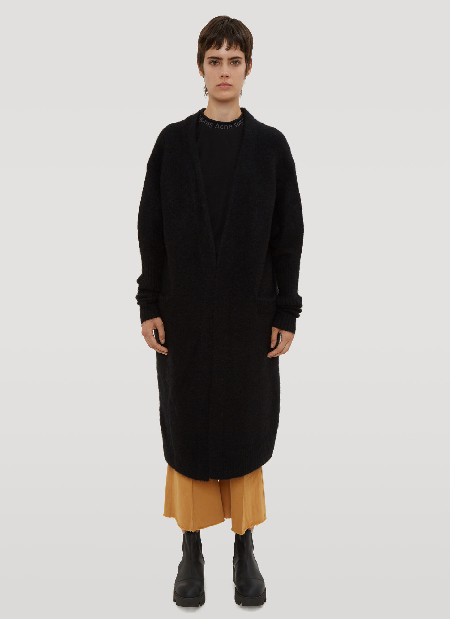 Photo of Acne Studios Raya Mohair Cardigan in Black - Acne Studios Knitwear