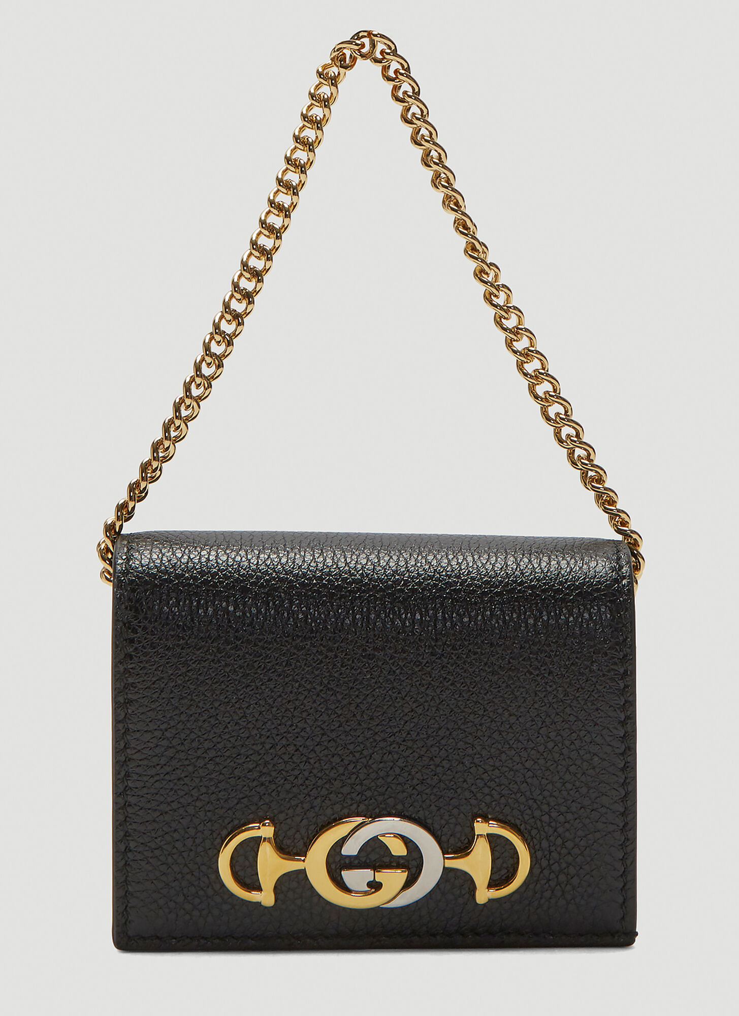 Gucci Zumi Leather Card Case in Black