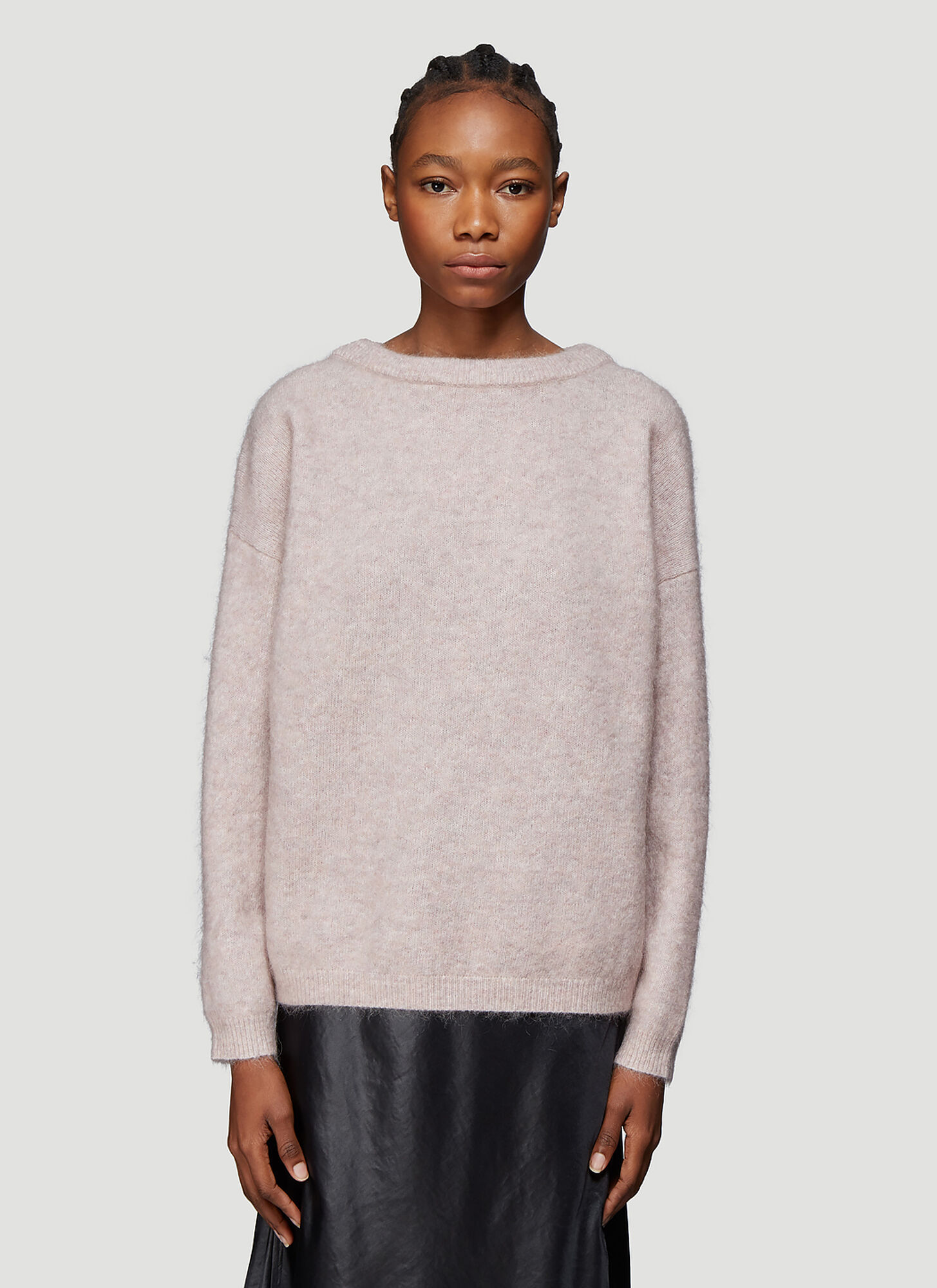 Acne Studios Loose Knit Crew Neck Sweater in Neutral
