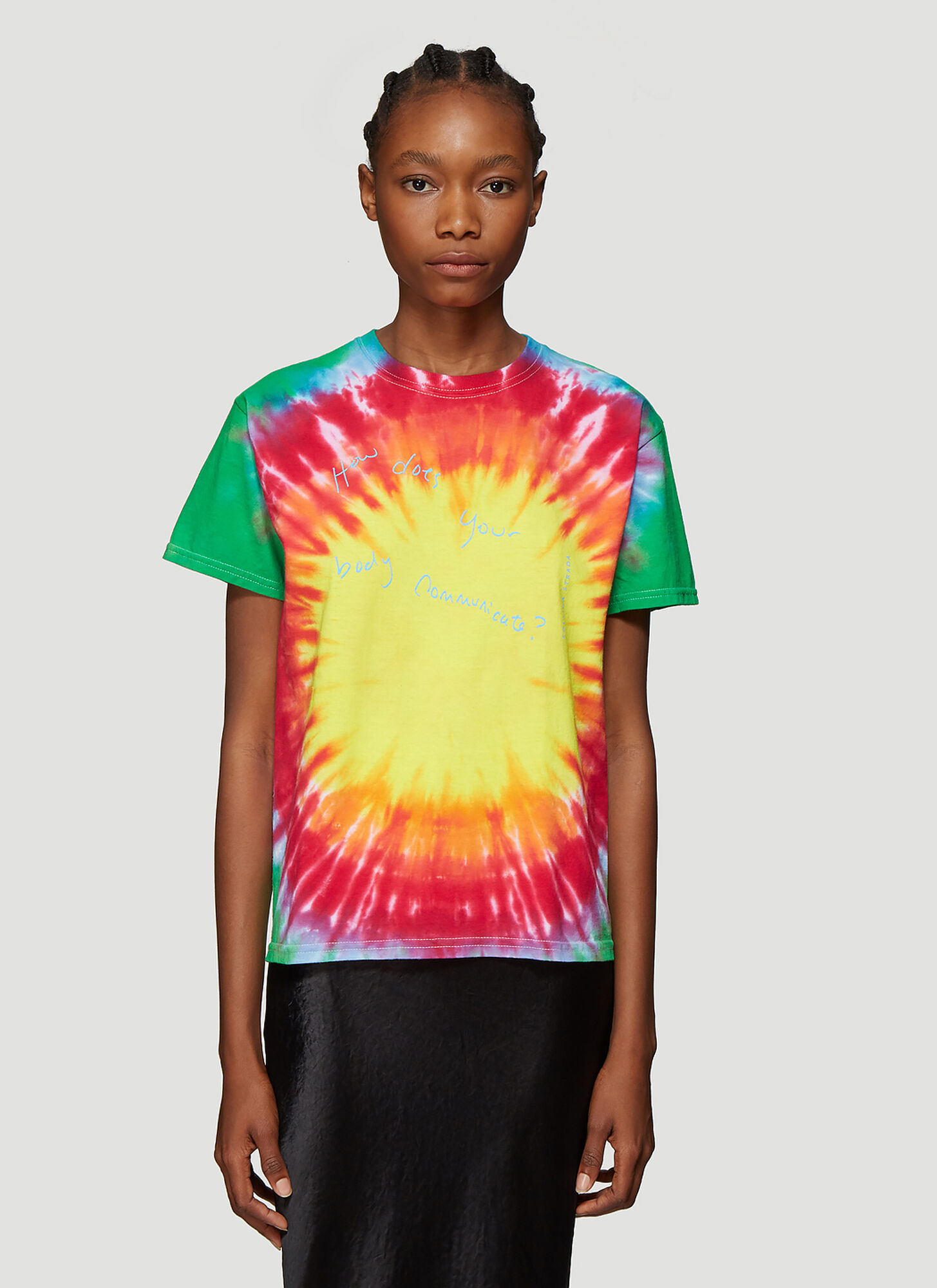 Collina Strada Tie Dye T-Shirt in Yellow