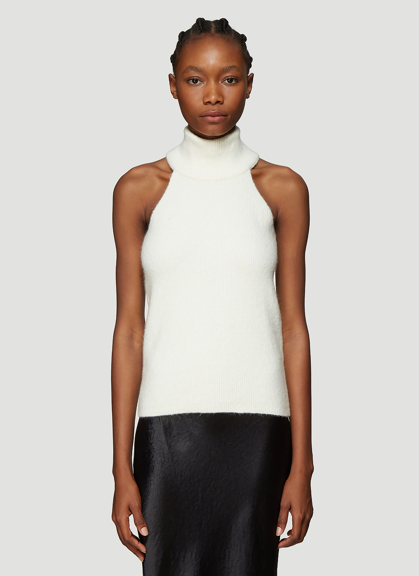 Photo of Jacquemus La Maille Baho Knitted Top in Cream - Jacquemus Knitwear