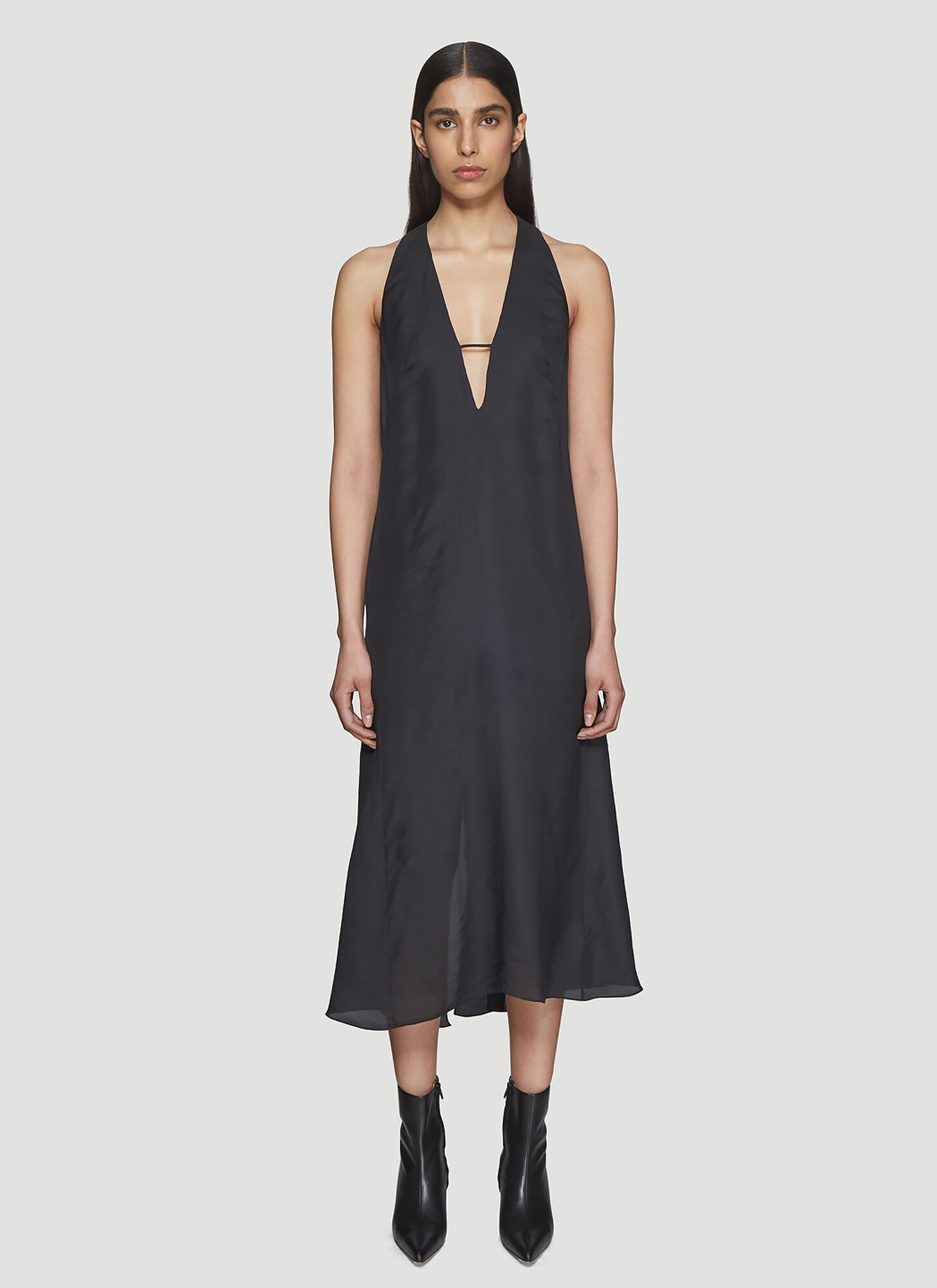 Olivier Theyskens Slip Dress in Black