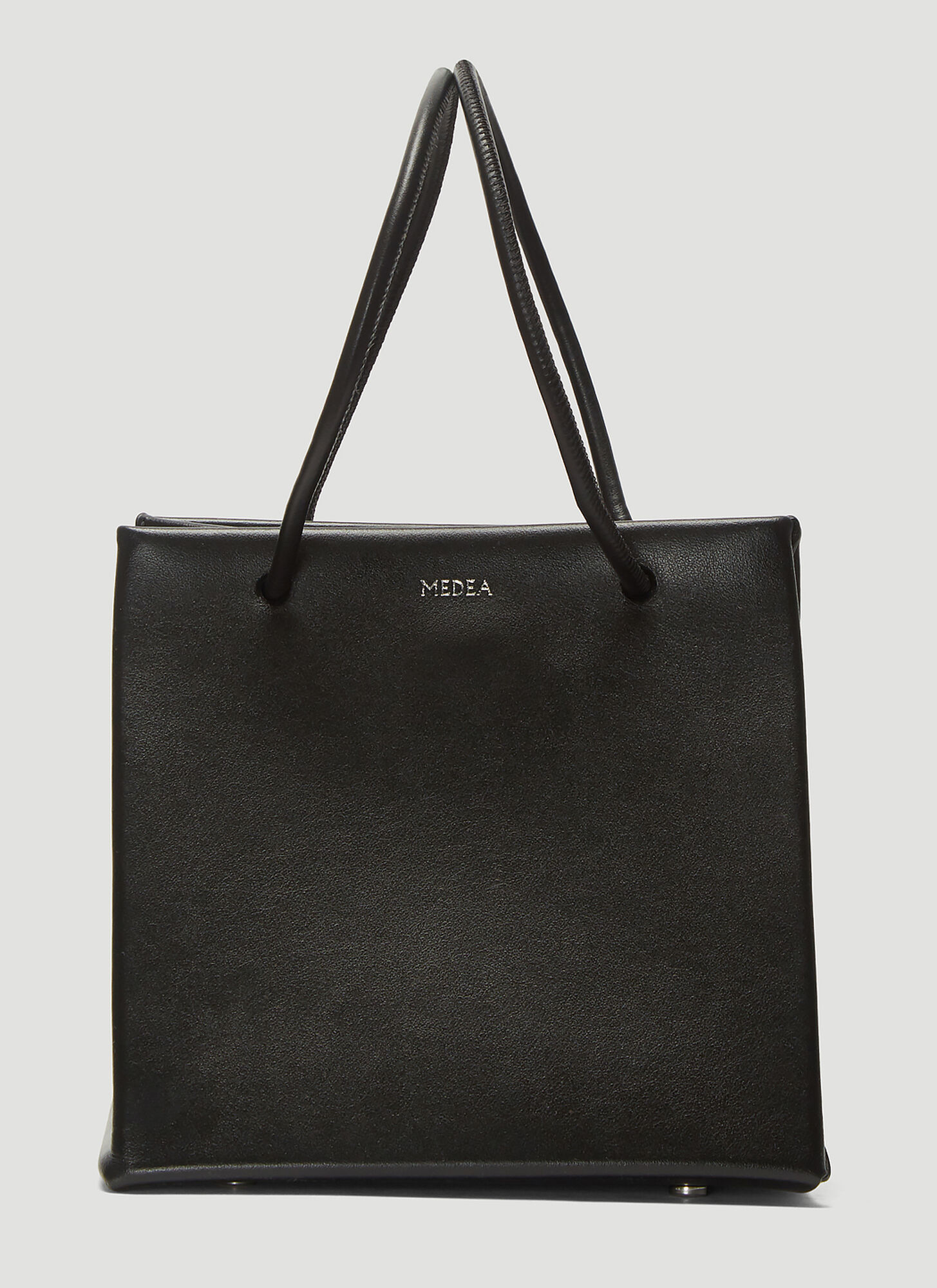 Medea Ice Leather Bag in Black