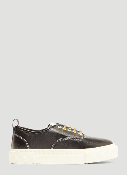 Viper Coated Canvas Sneakers In Black